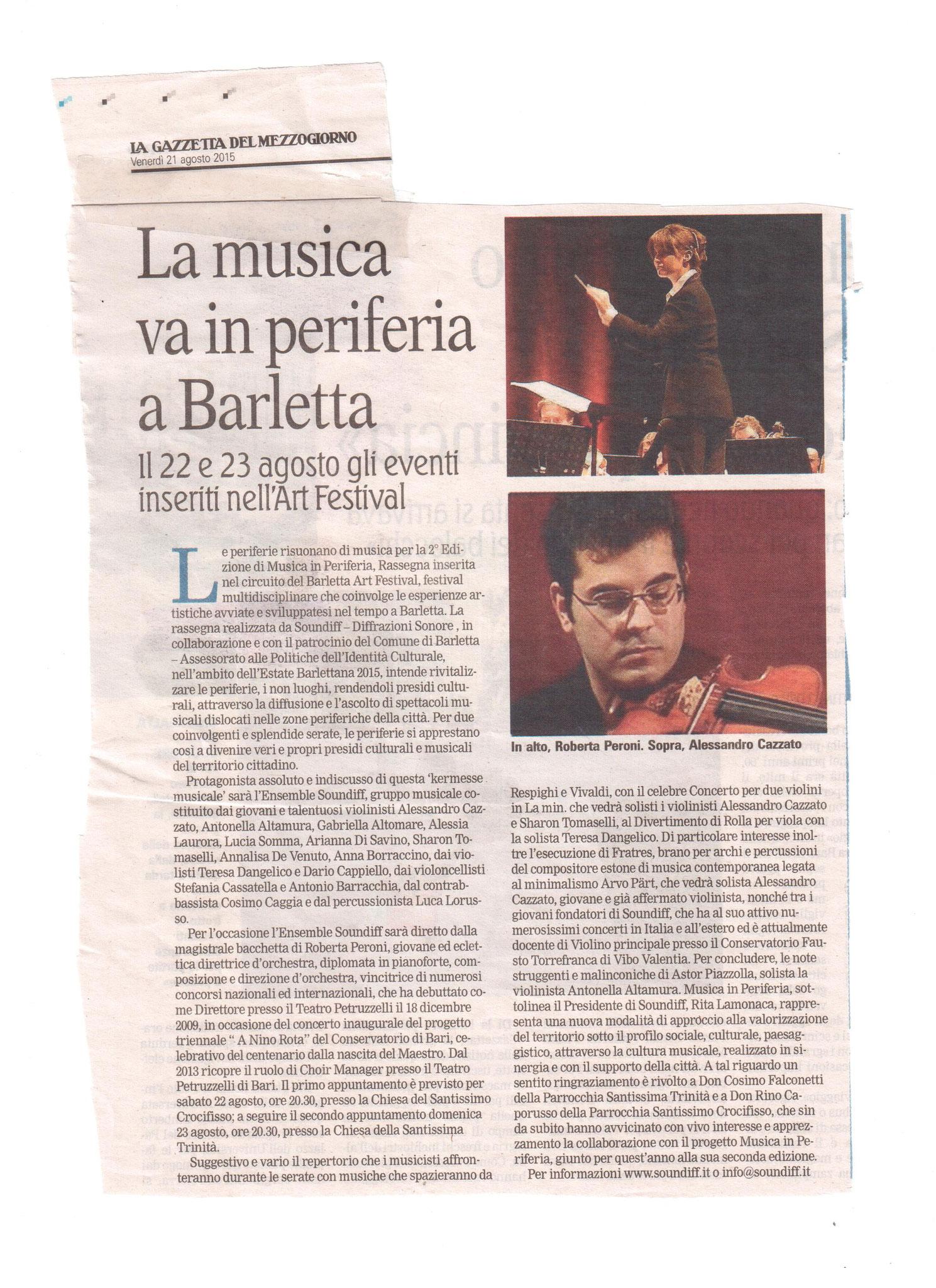 La Gazzetta del Sud 21/08/2015