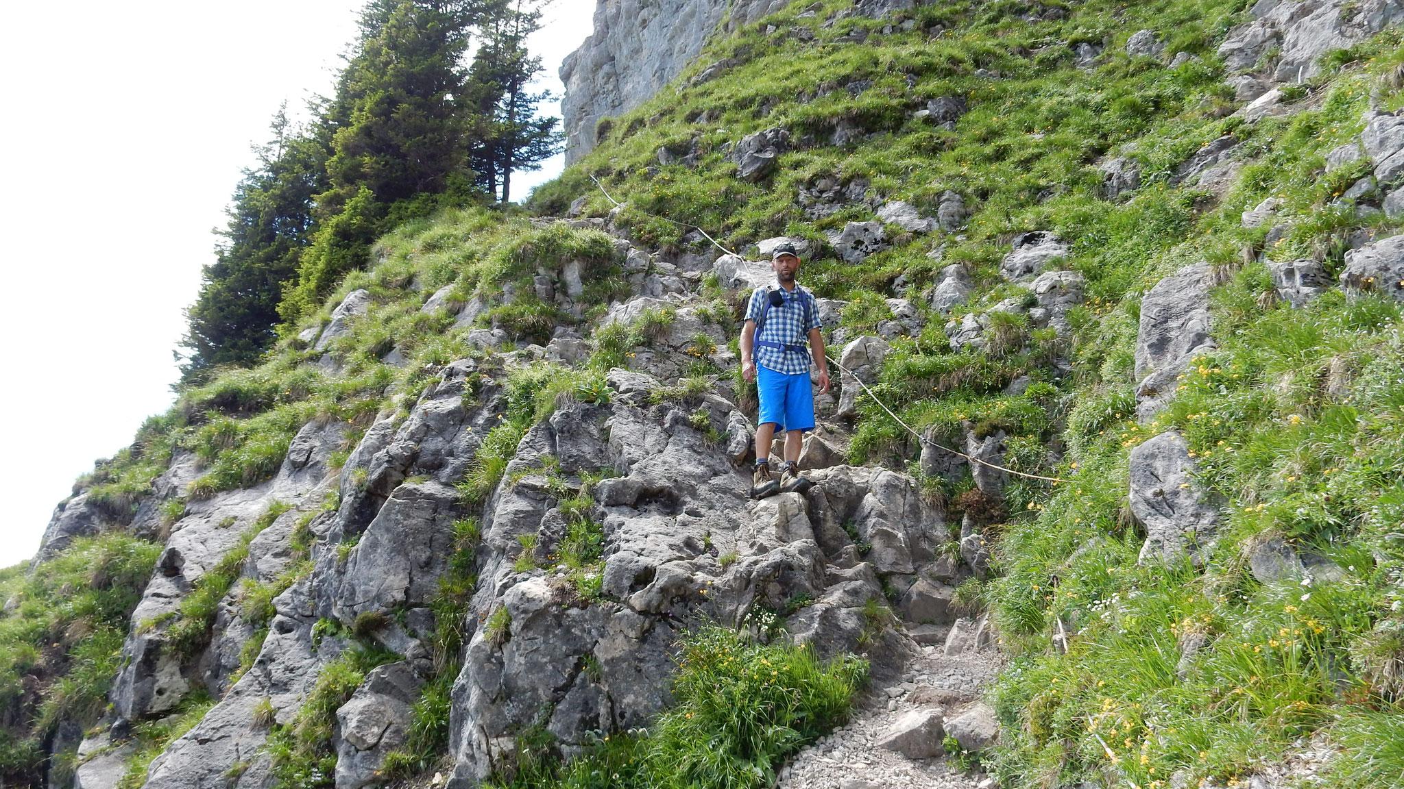 im Abstieg zum Schafloch