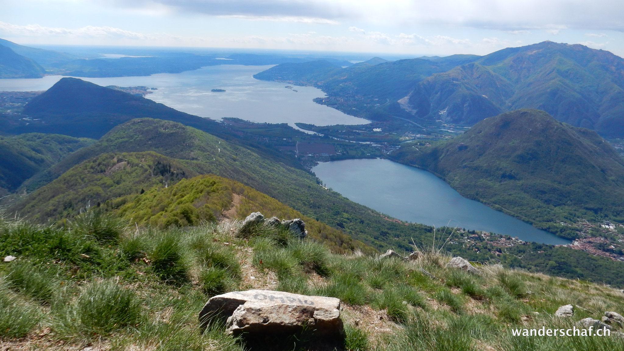 Aussicht auf den Lago Maggiore und Lago di Mergozzo