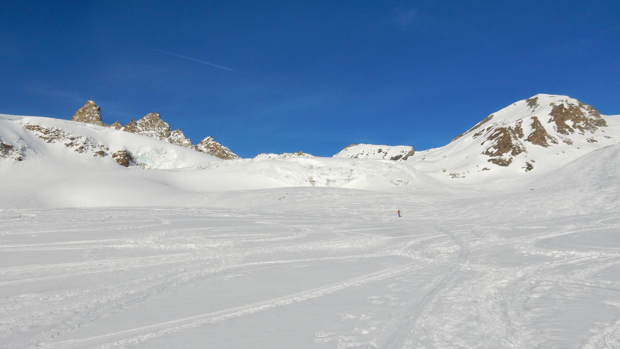 wir steigen zum Col de Darbonneire hoch