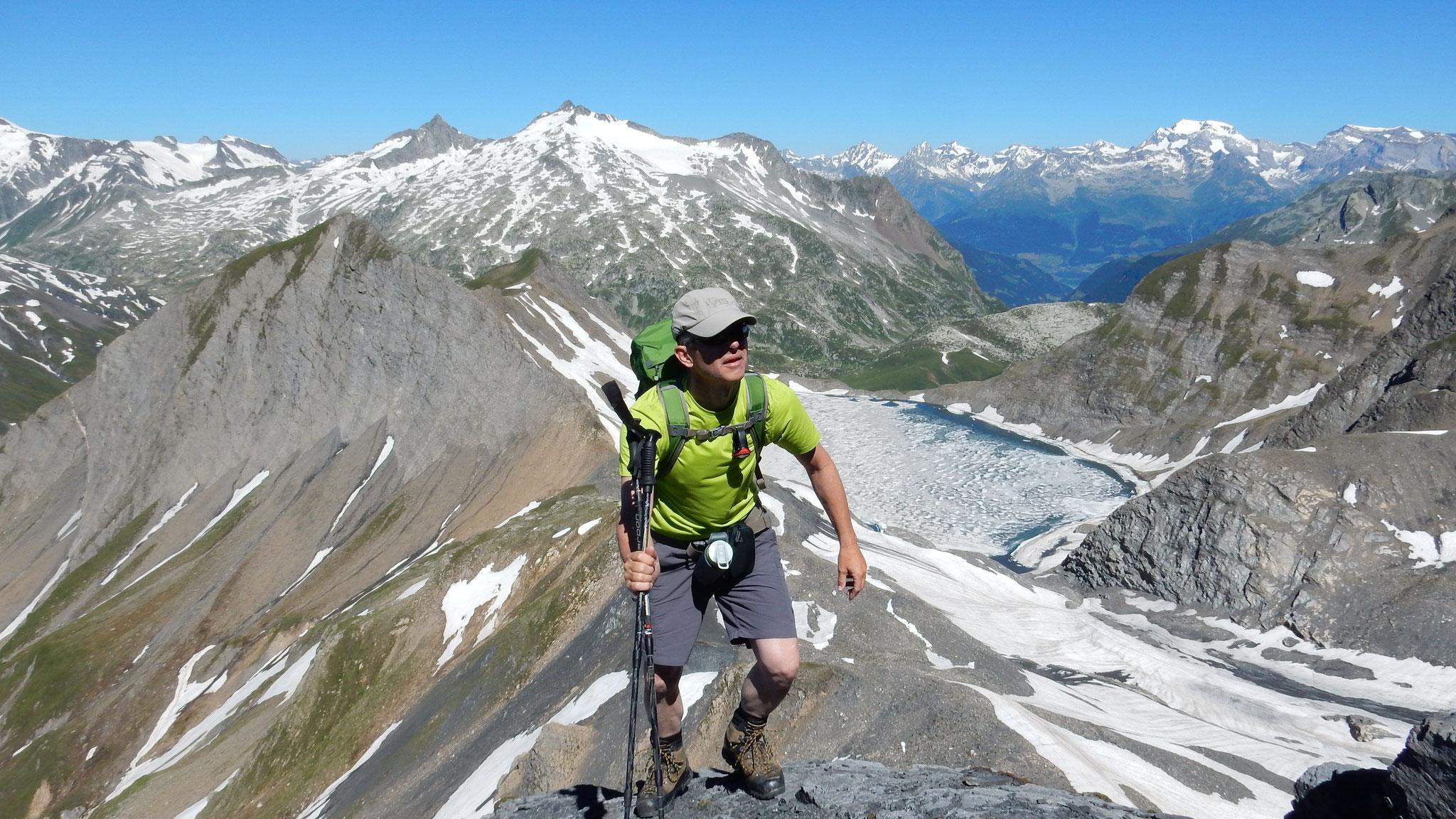 auf dem Grat Richtung Gipfel