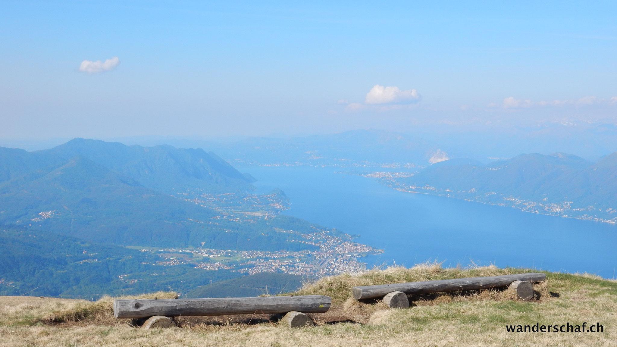 tolle Aussicht vom Monte Lema