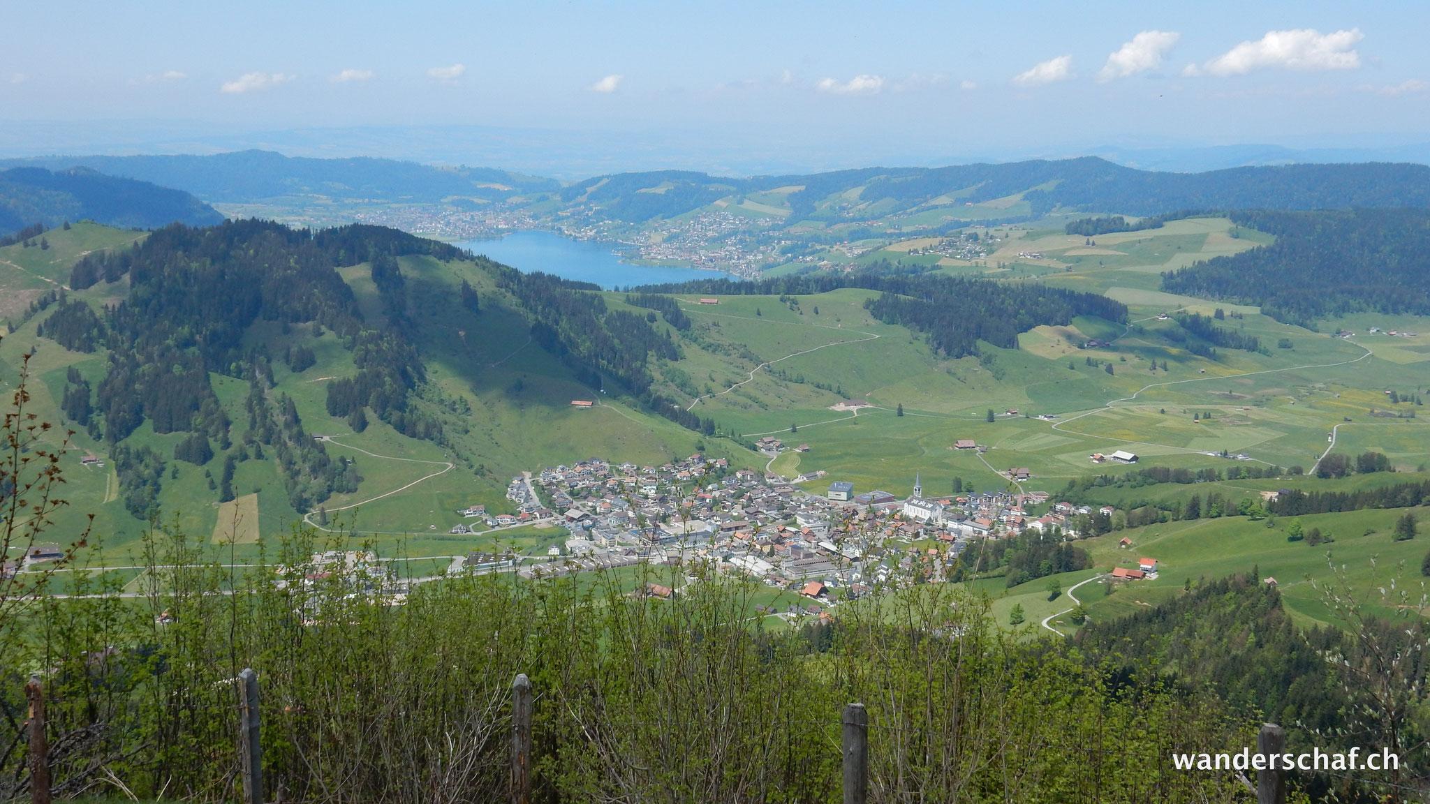 Blick nach Rothenthurm und Ägerisee