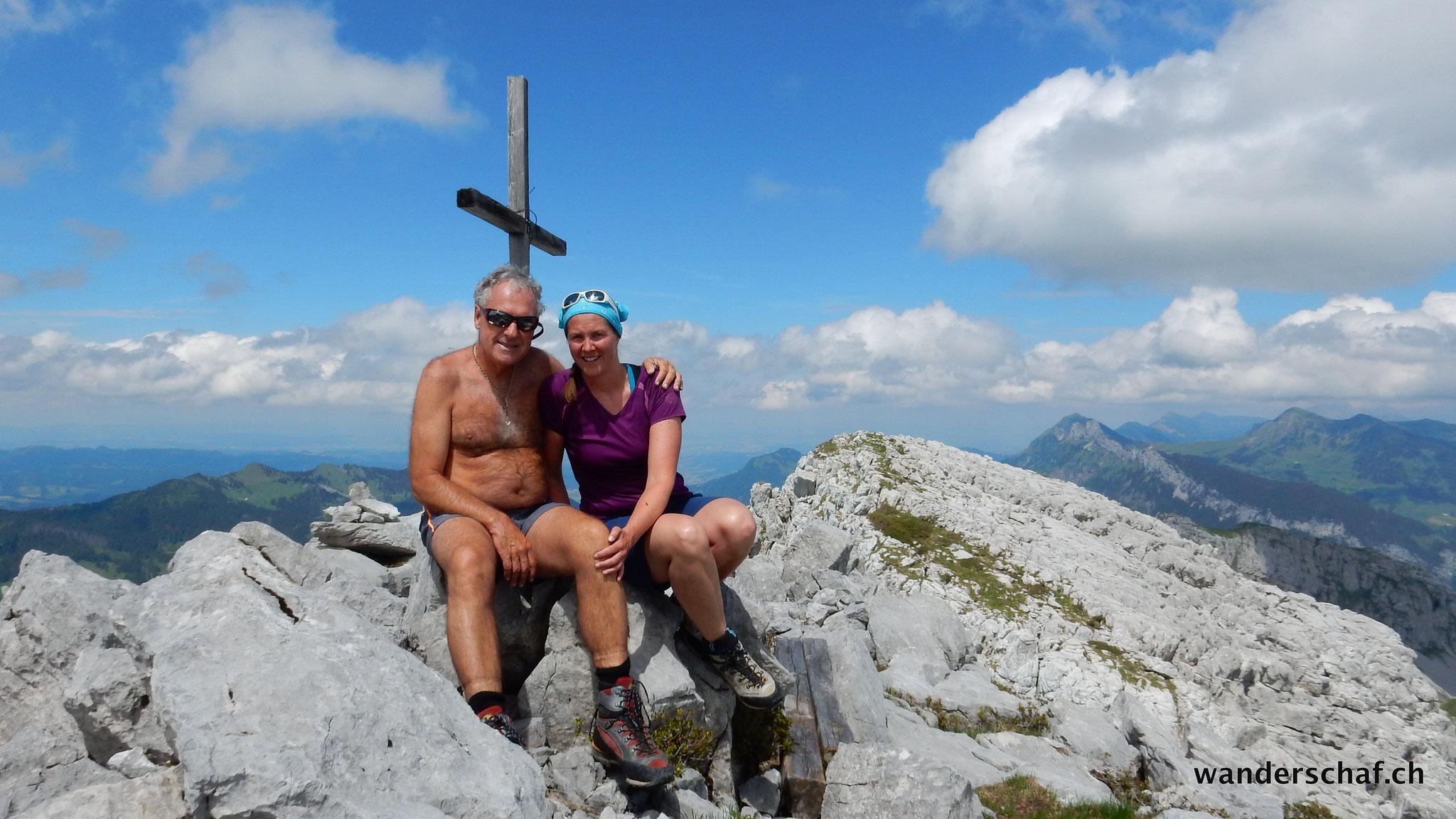 Gipfelglück auf der Hächle