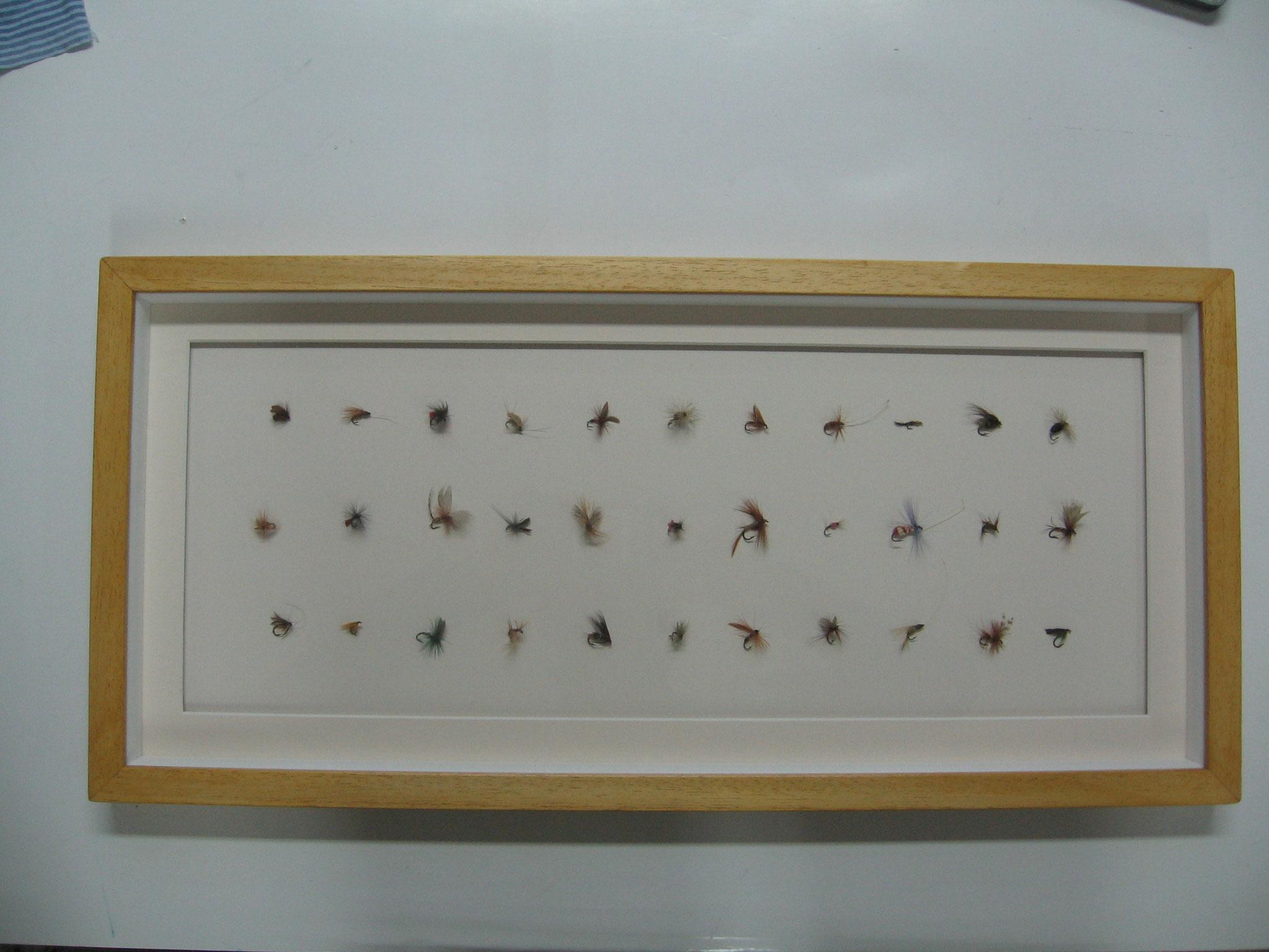 Collezione di mosche da pesca.