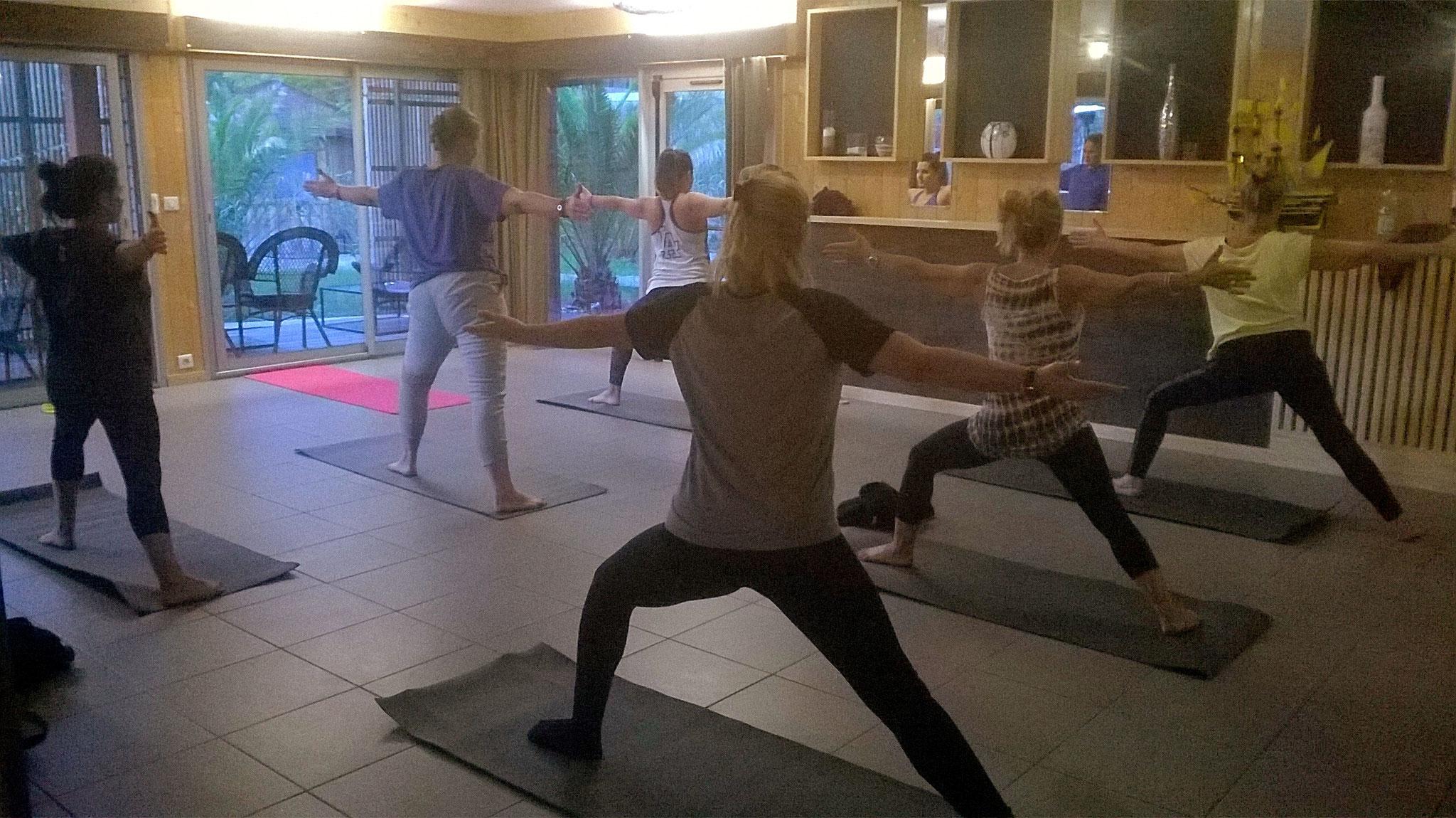 Séance de yoga à Cap Golf, Le Four, Lège Cap Ferret