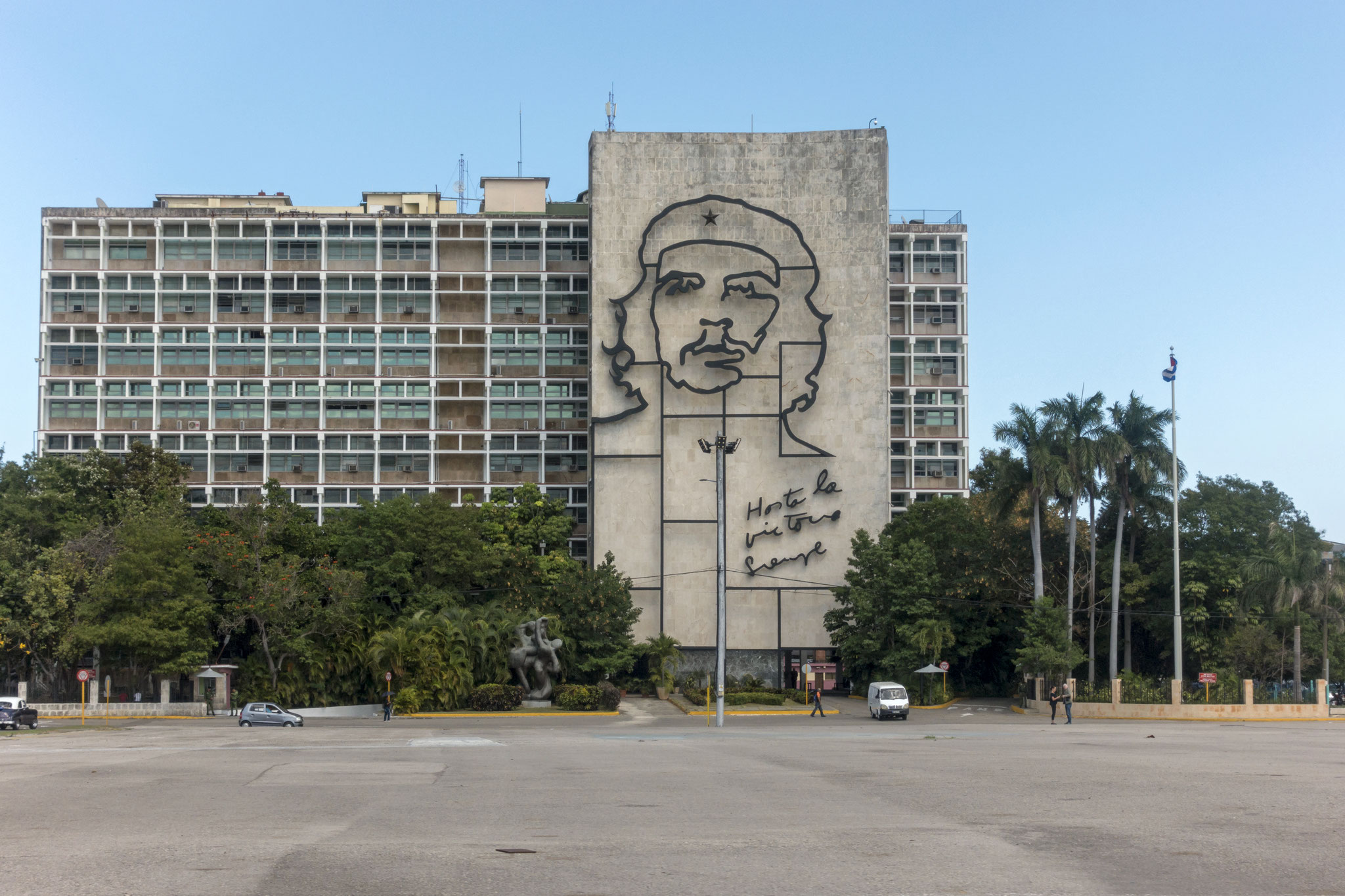 Das Innenministerium mit dem Großbild von  Che Guevara am Plaza de la Revolucion