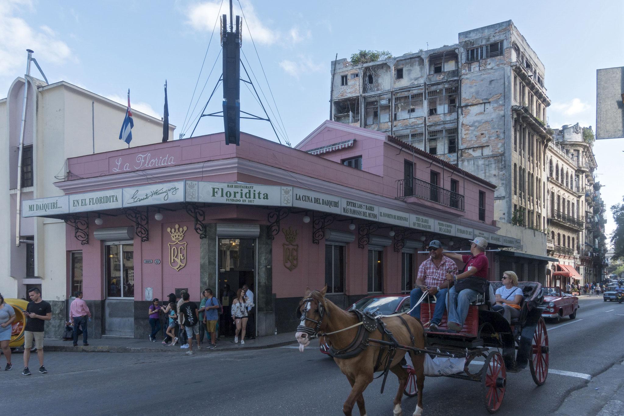 Bar El Floridita, Stammlokal von Ernest Hemmingway