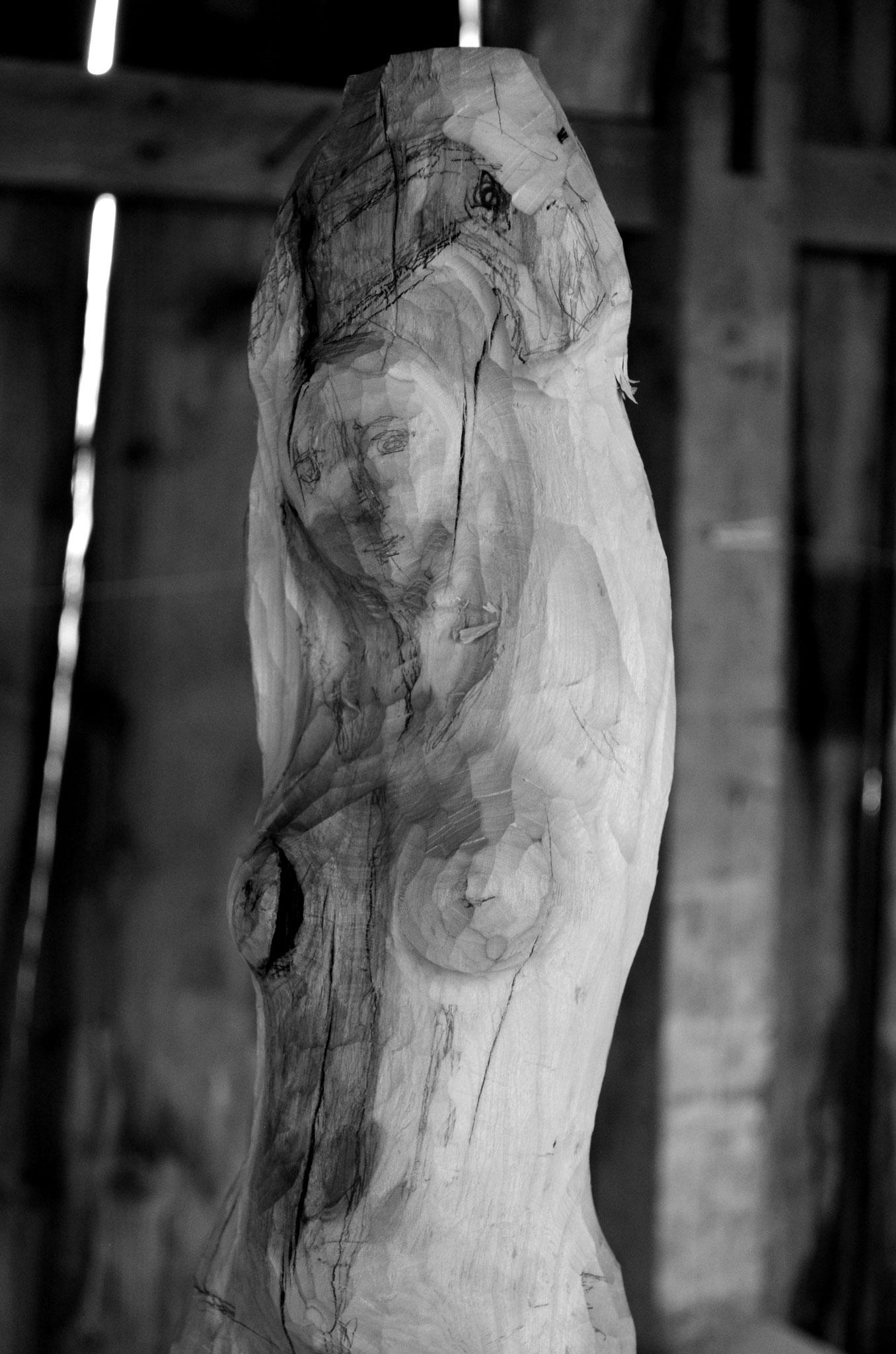Nudo di donna, di legno di ciliegio   -   Bildhauerei Wiedemer Basadingen
