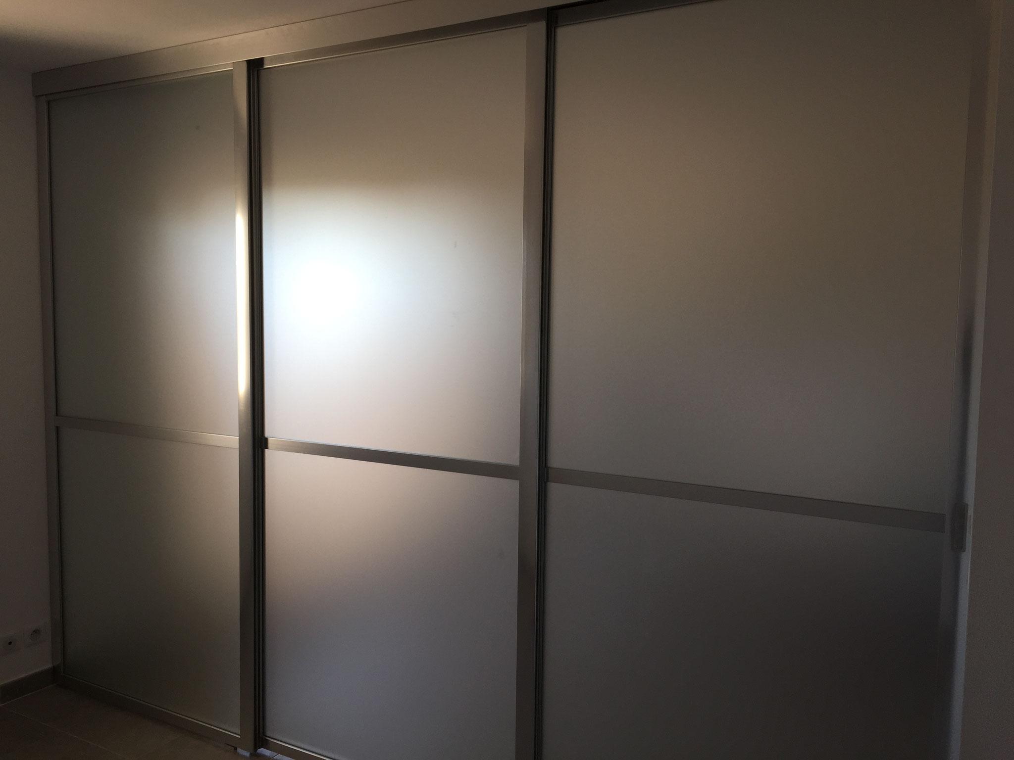 séparation de pièce vitrée