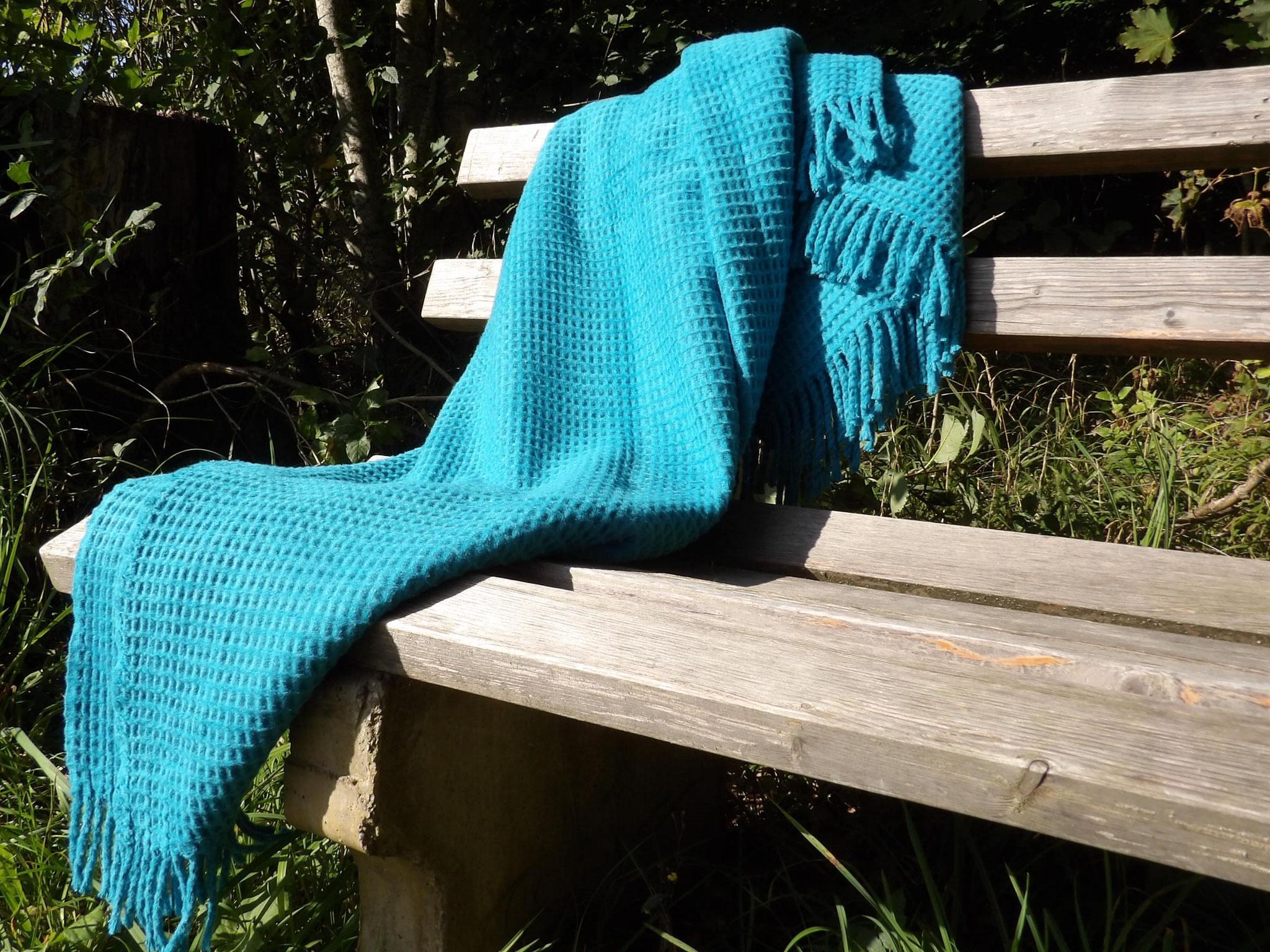 Baumwolldecke Nizza, Blau