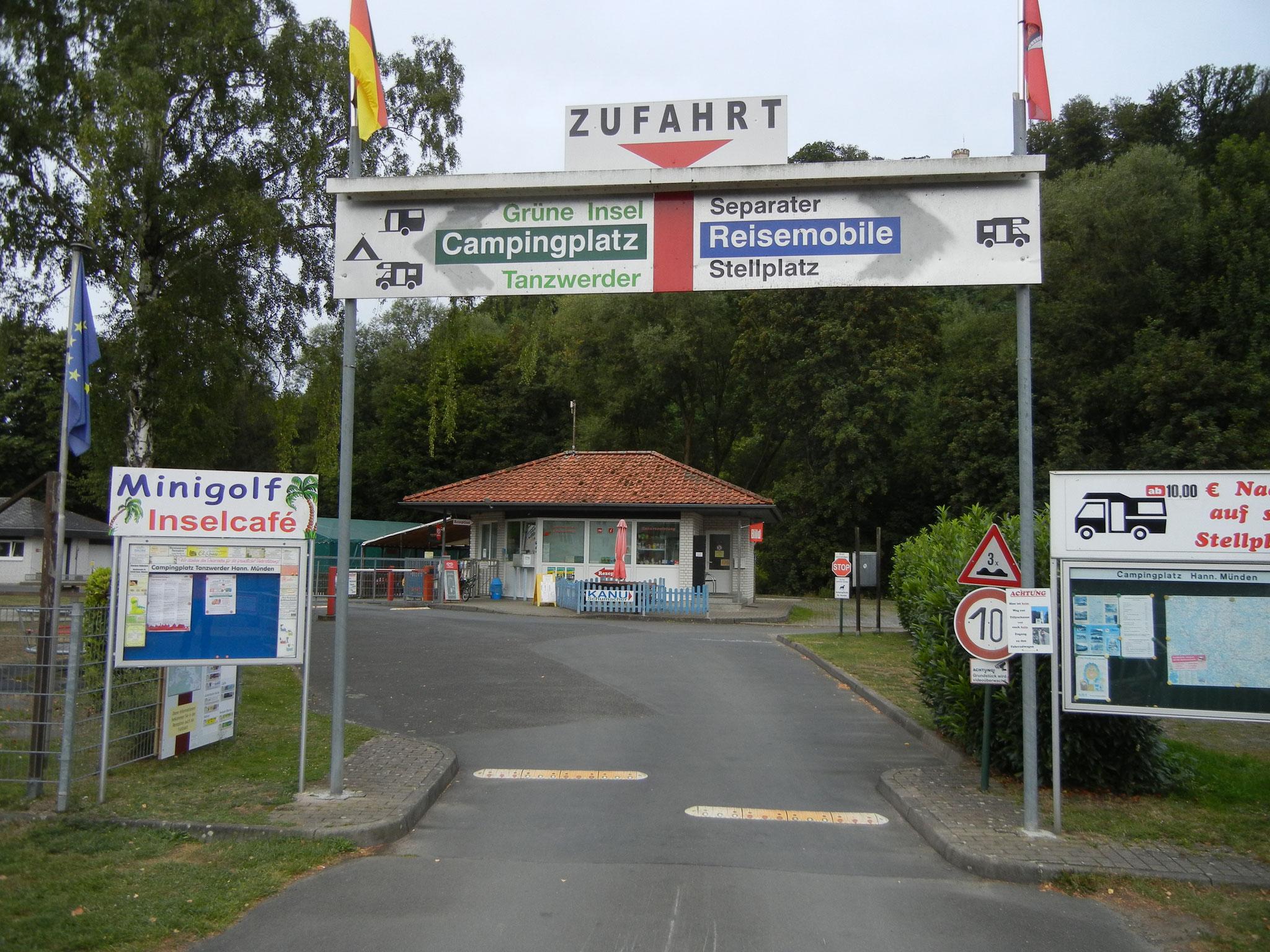Stadtnaher Camping in Hann. Münden