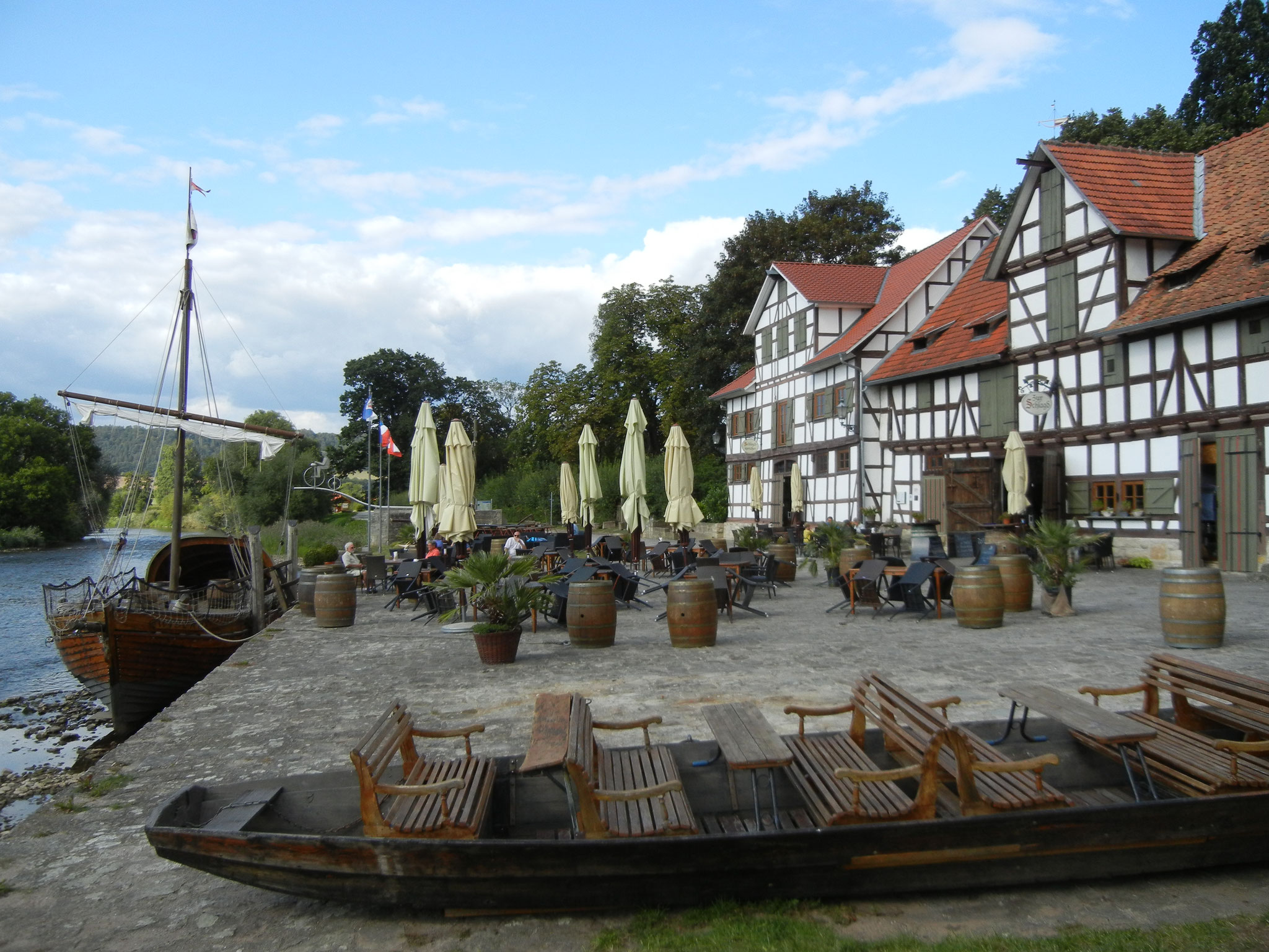 Alter Hafen in Wanfried.