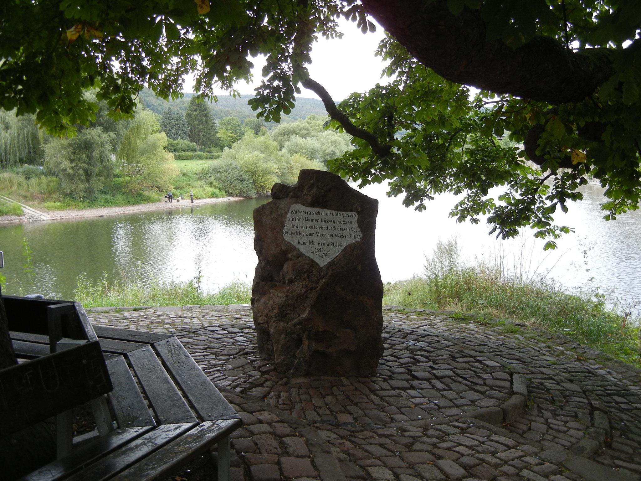 Der Weserstein in Hann. Münden