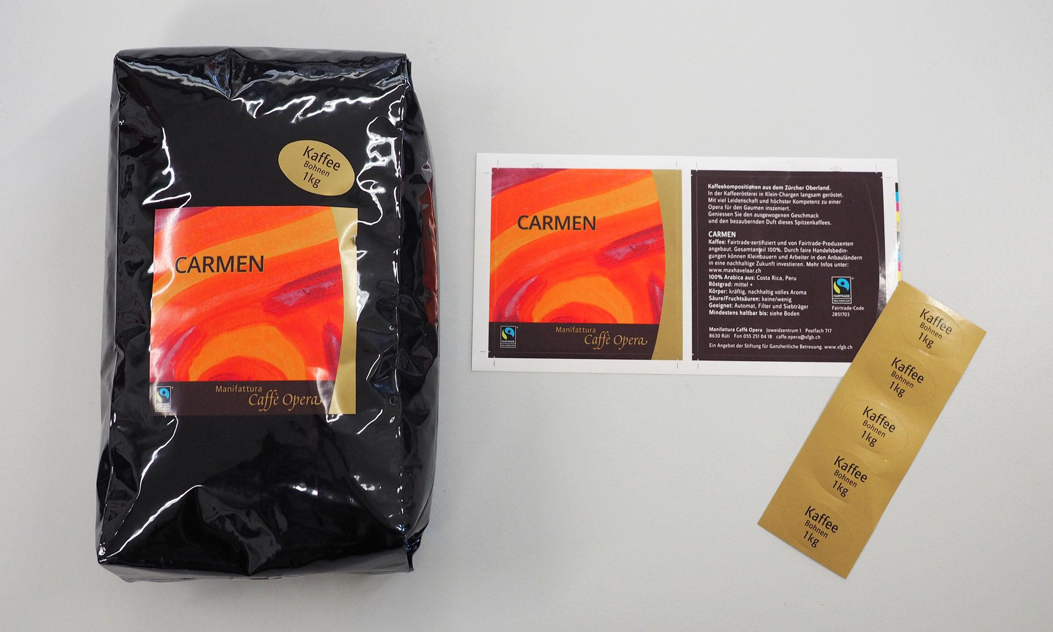 selbstklebende Etiketten, z.B. für Verpackungen