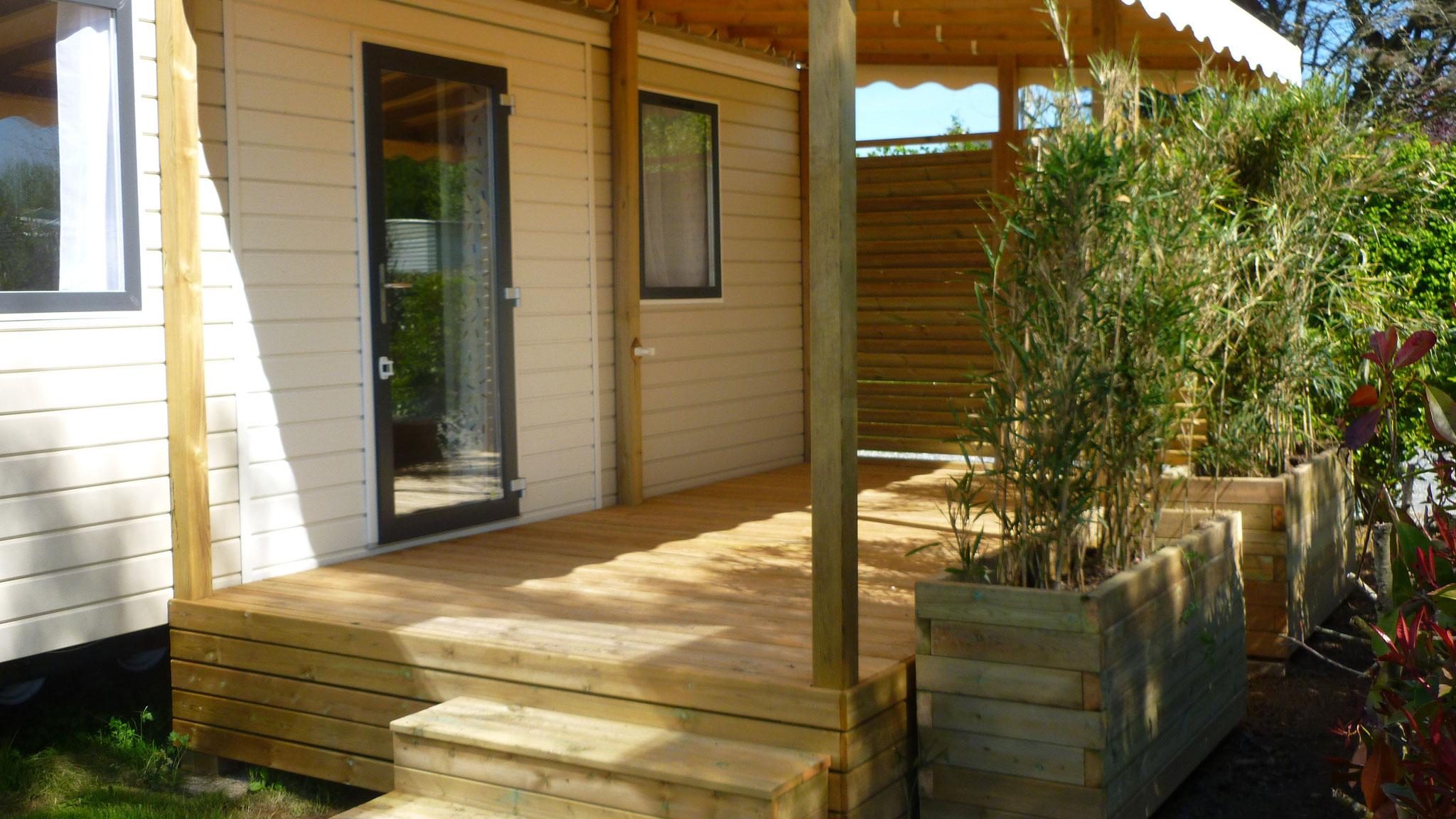 Terrasse sur mesure pour mobil home