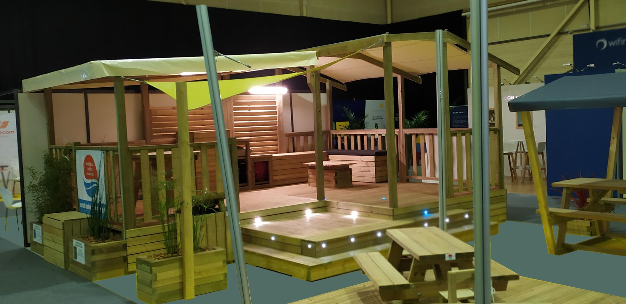 Terrasse Fermée En Bois installation de mobil home et de terrasses sur-mesure
