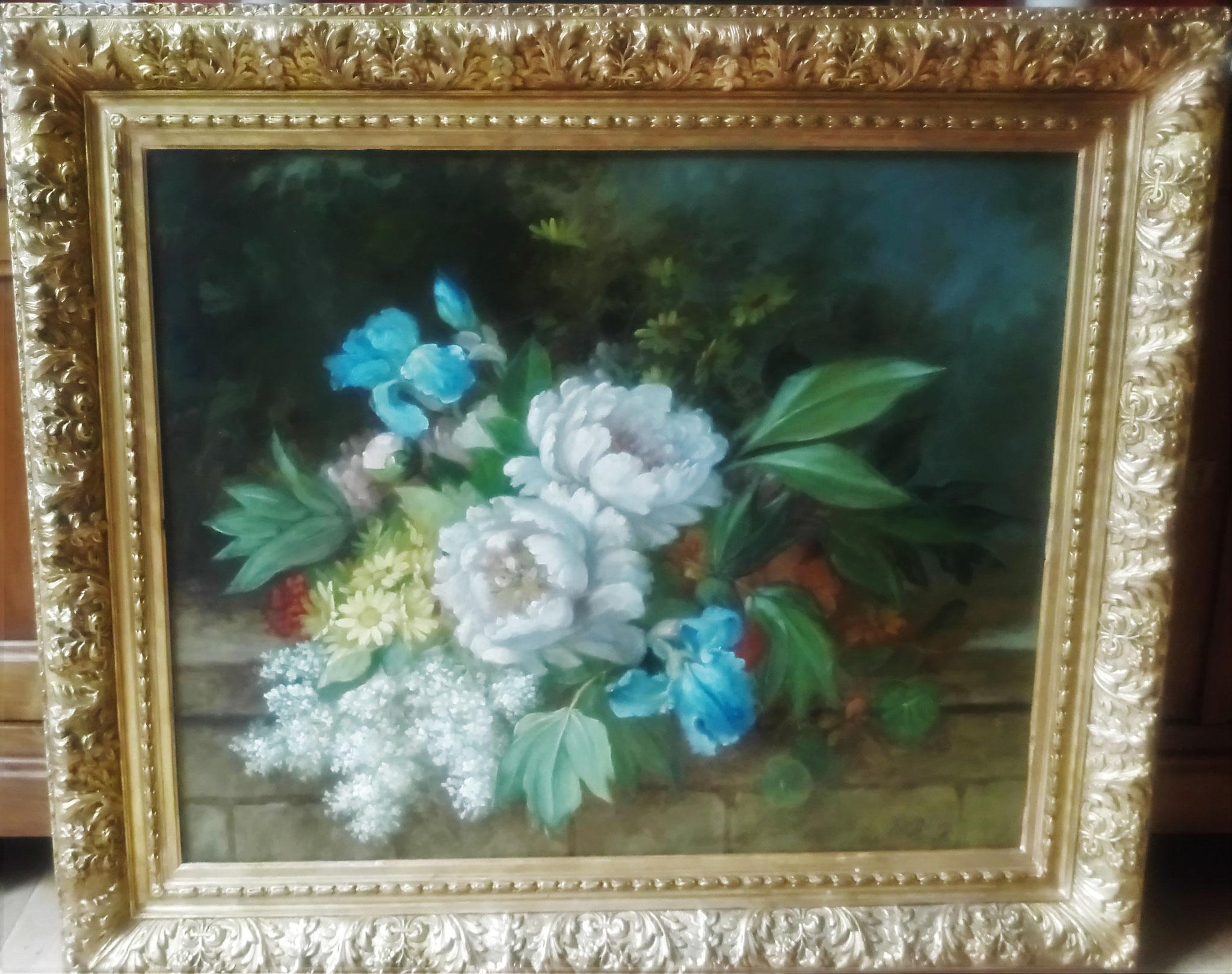 HST début 20è s : Bouquet de fleurs : résultat final après traitement