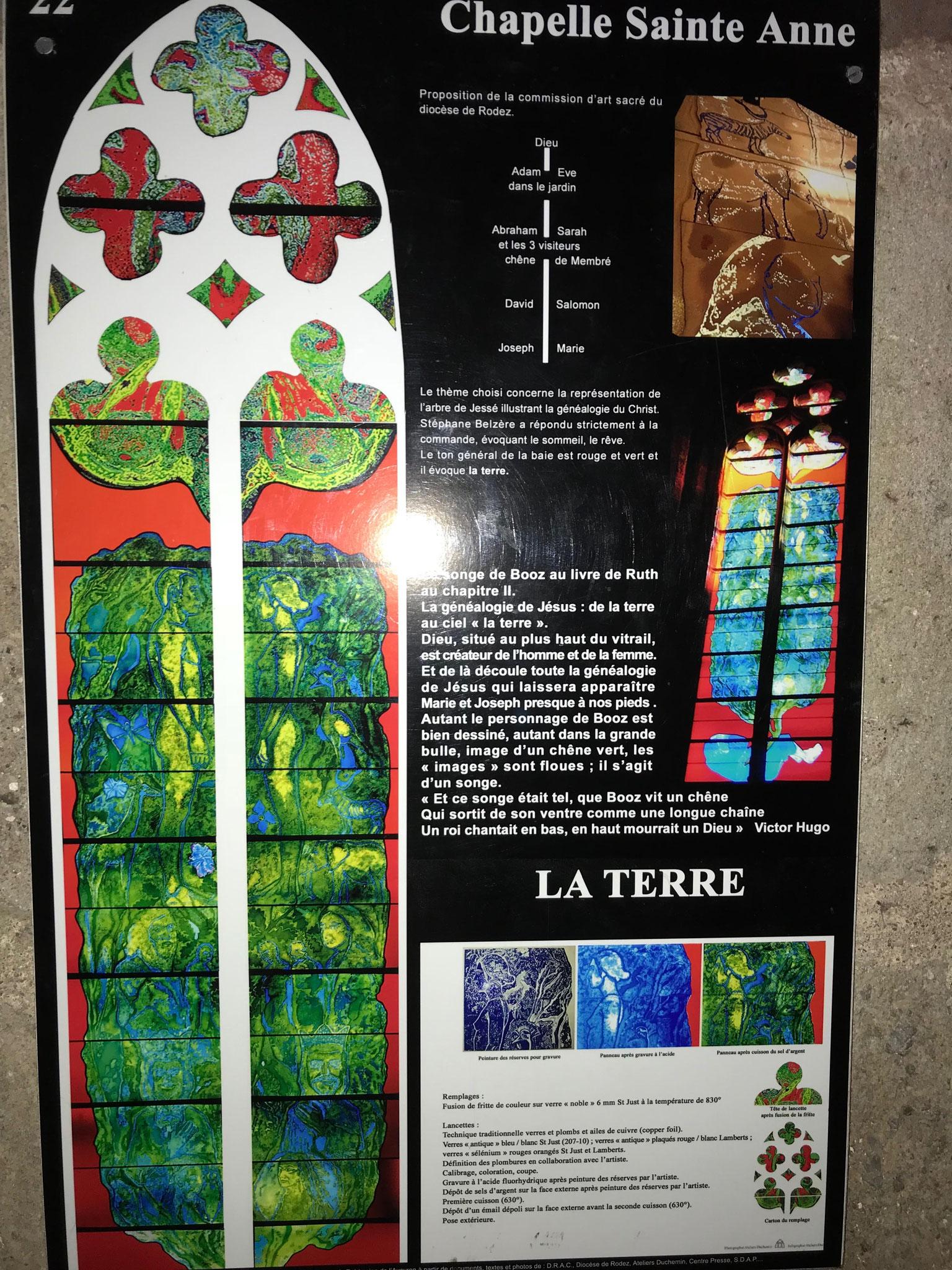 vitrail contemporain de Stéphane Belzel , l'arbre de Jessé