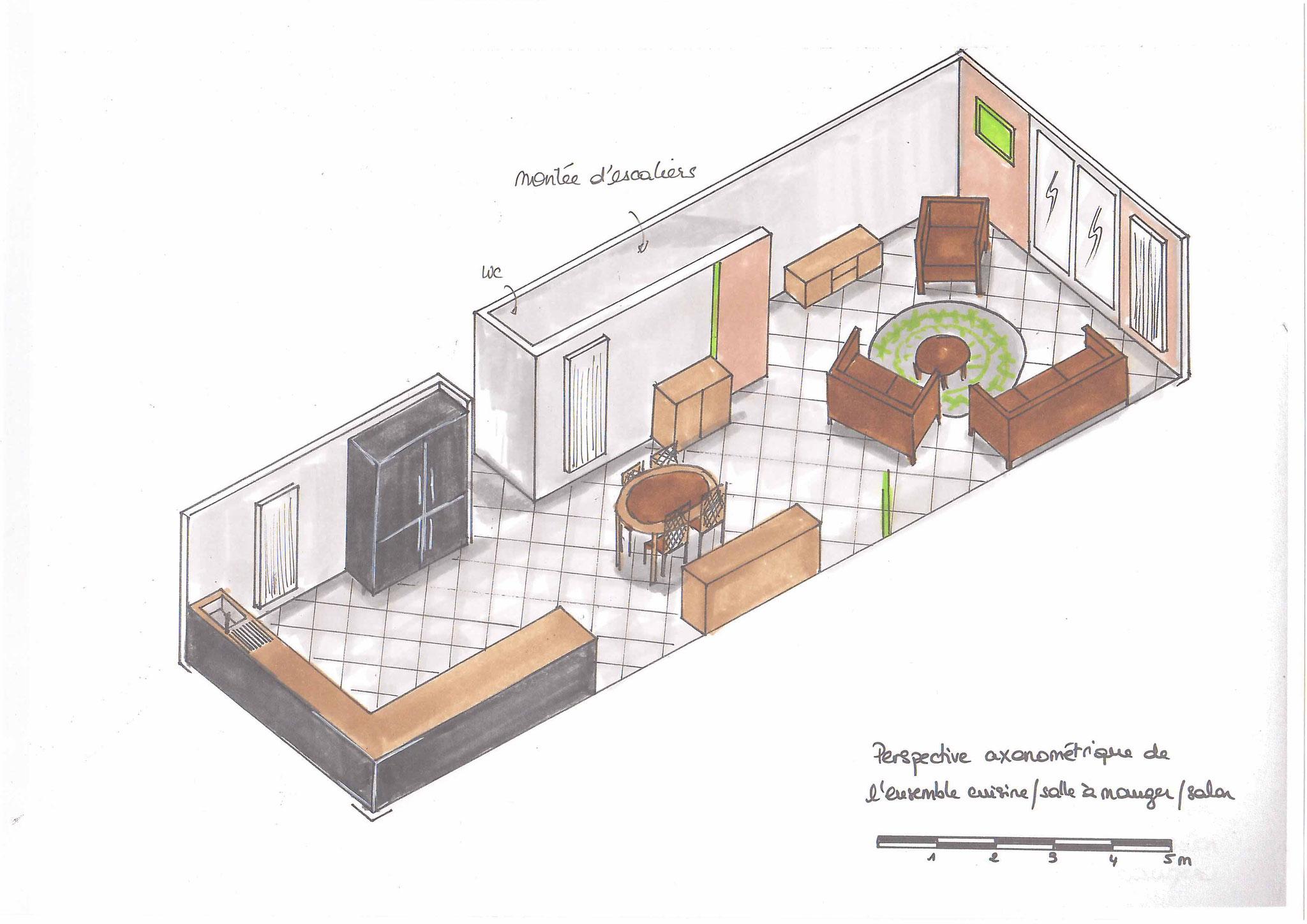 Atelier Inside-vue d'ensemble cuisisne salon salle à manger peinture unikalo
