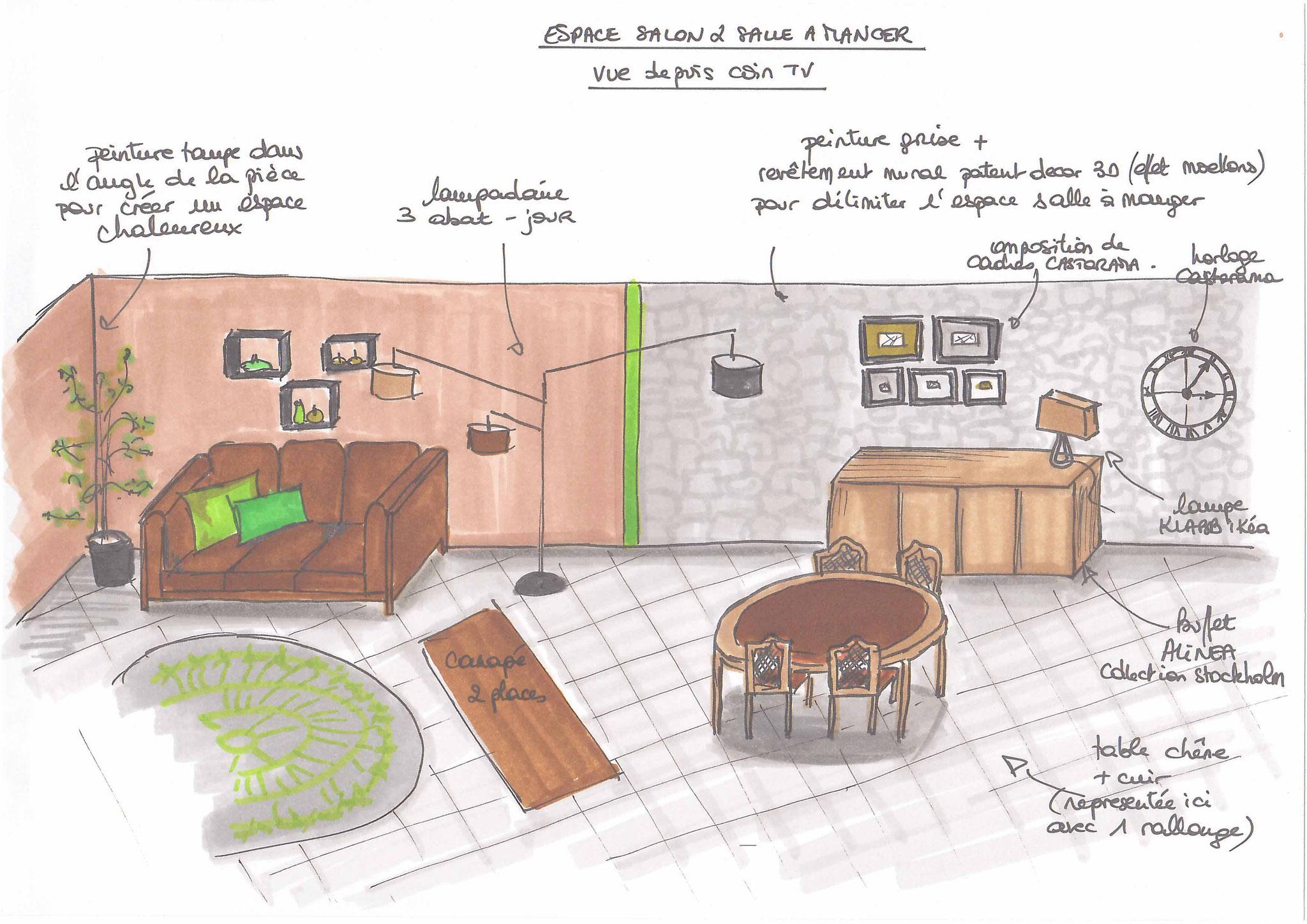 Atelier Inside-salle à manger collection stockholm alinéa, patent decor 3D, peinture unikalo
