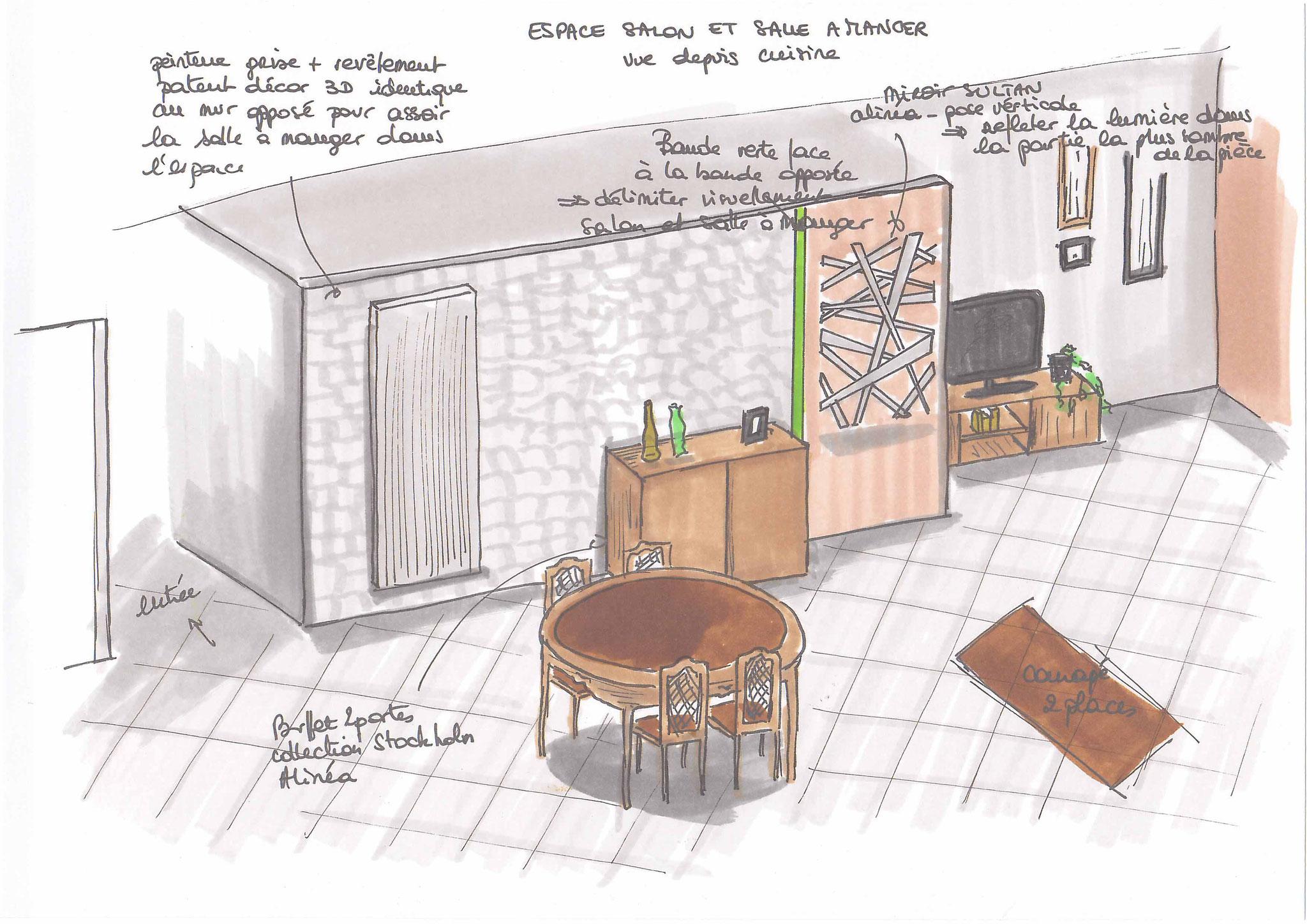 Atelier inside - salle à manger patent decor 3D peinture unikalo