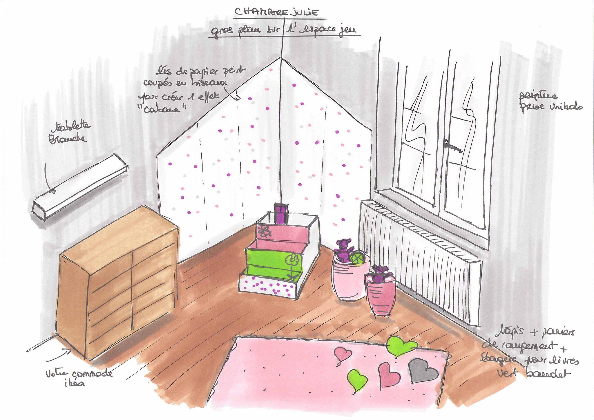 Atelier Inside-chambre enfant gris et blanc peinture unikalo
