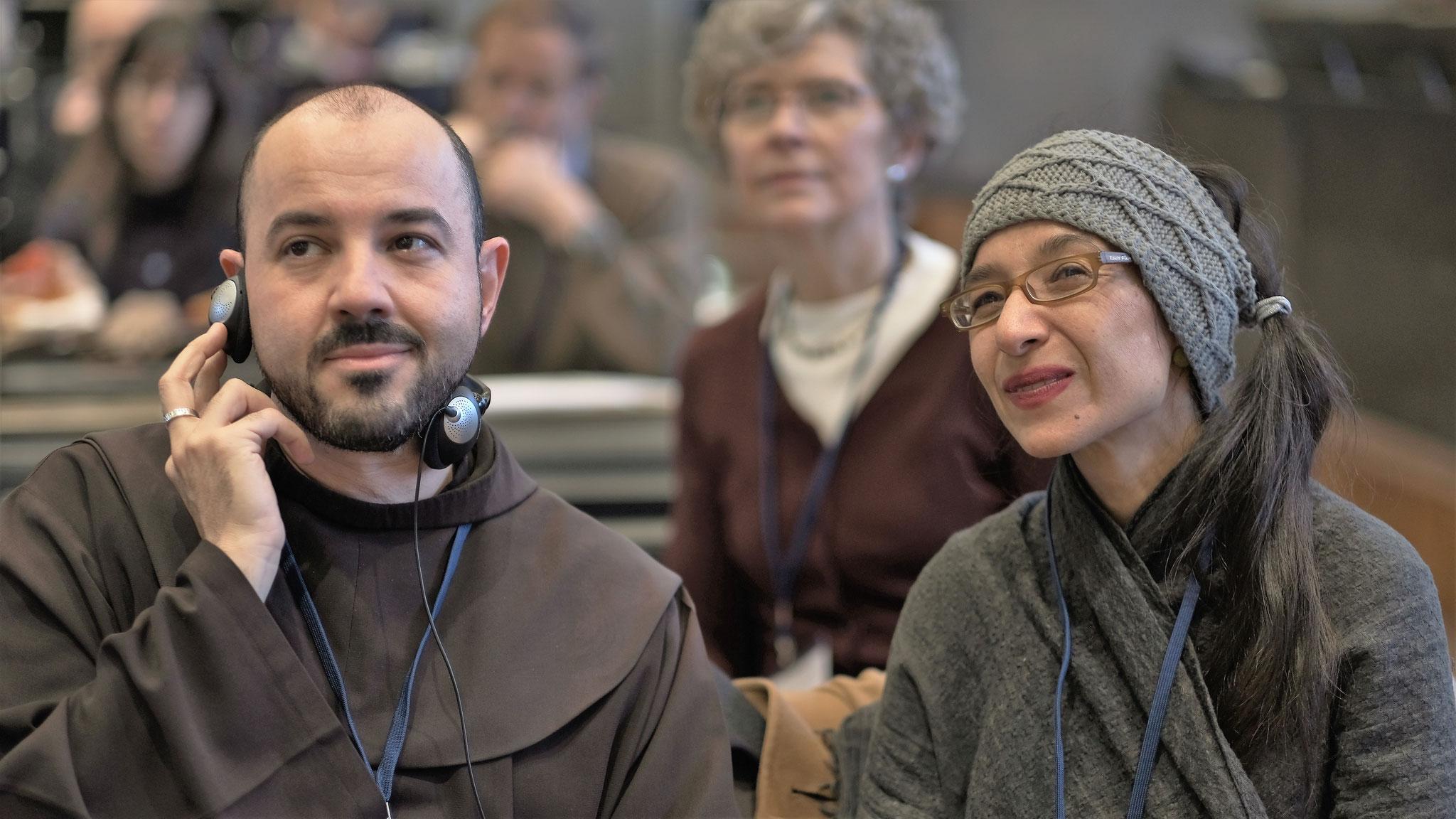 Alberto Pari, Tamar Elad-Appelbaum, dahinter Maria Groos