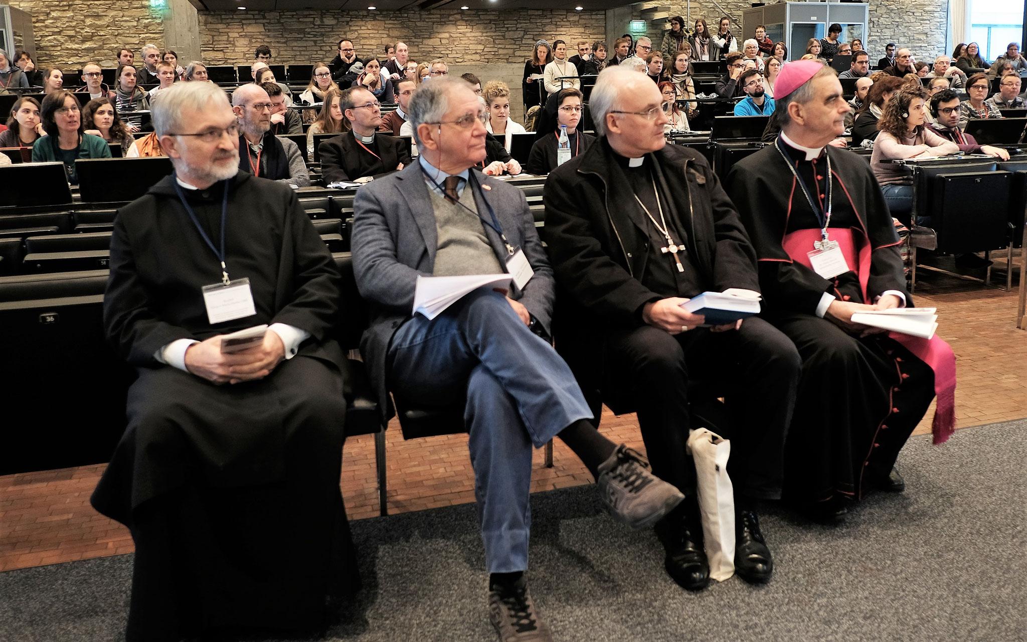Bischof Dr. Gregor Maria Hanke, Prof. Buttiglione, Bischof Rudolf Voderholzer, Erzbischof Dr. Nikola Eterovic