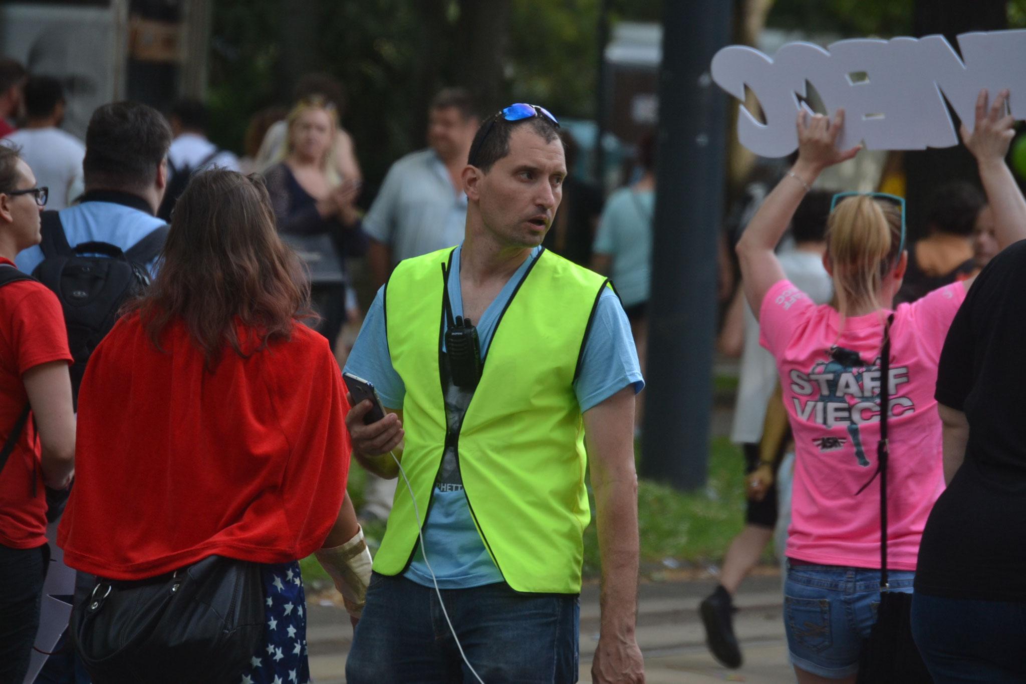 Begleitung Regenbogenparade 2017