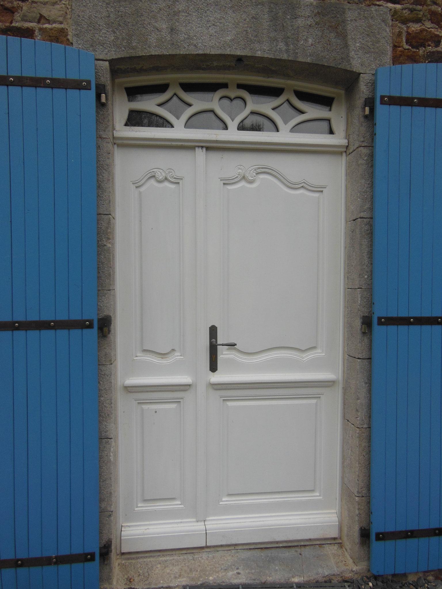 Porte bois peint blanc copie