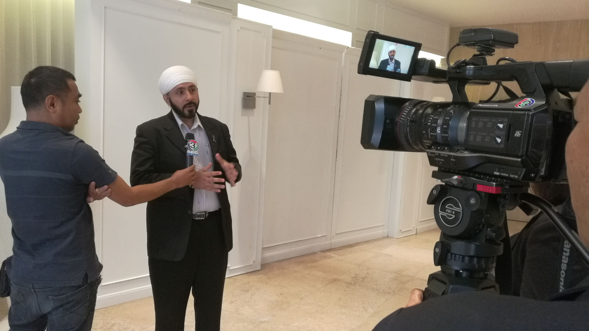 Interview with Channel 3 news, for Thai-India Trade and Investment