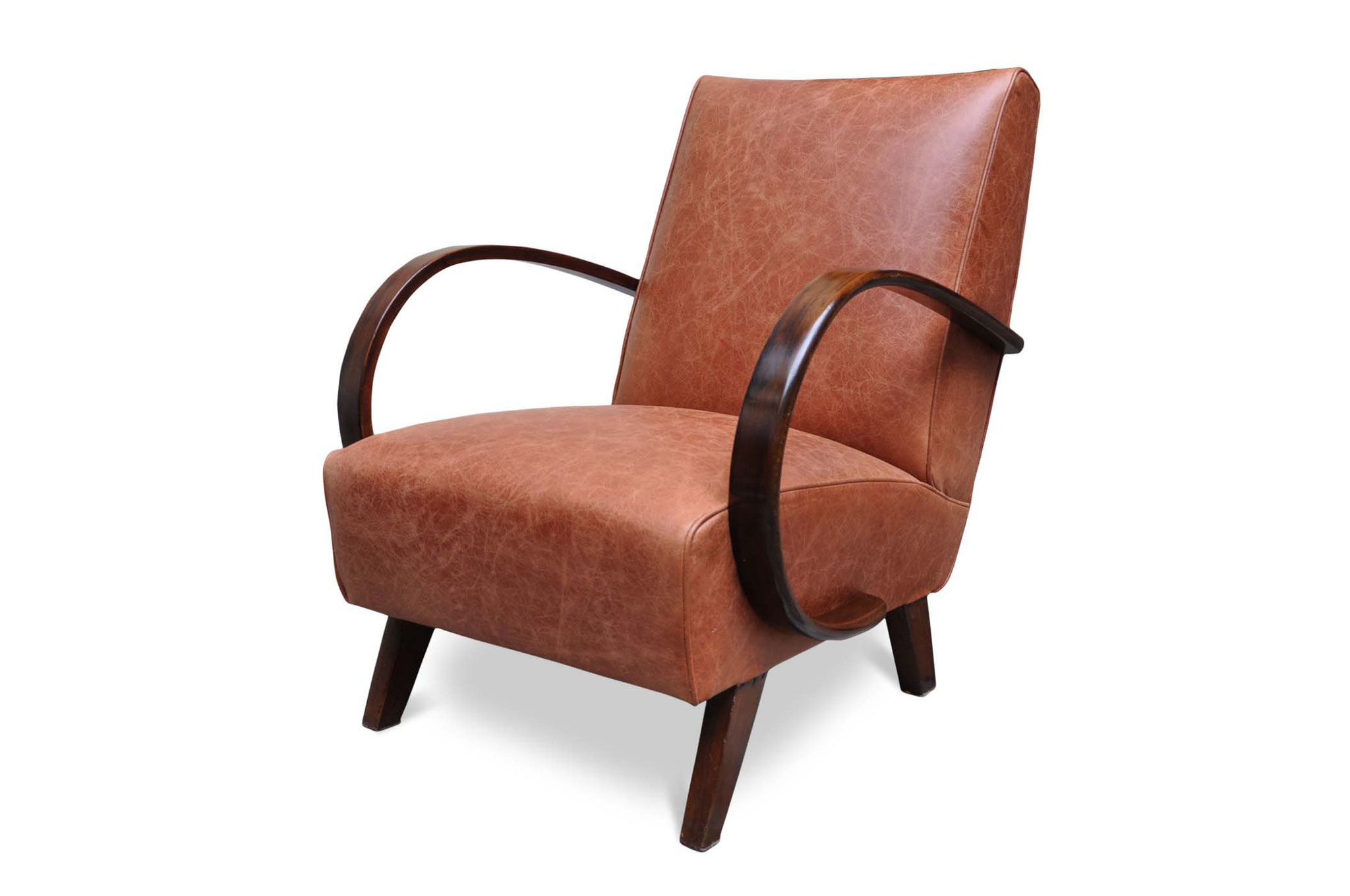 art deco chair in leather
