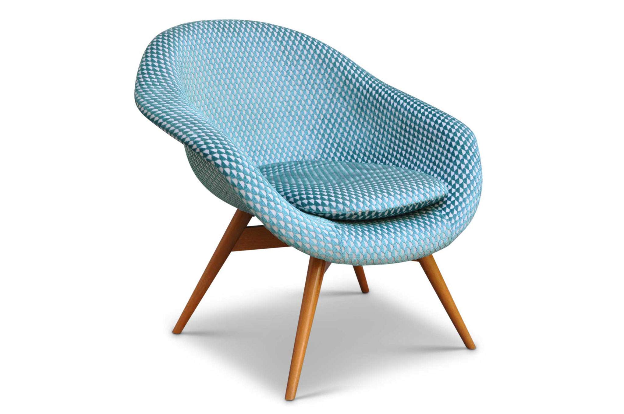 Shell chair anni 50 tappezzata