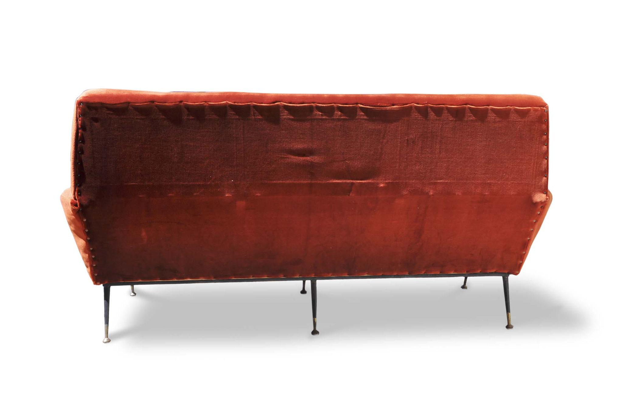 divano vintage anni 50 tra gio ponti e zanuso