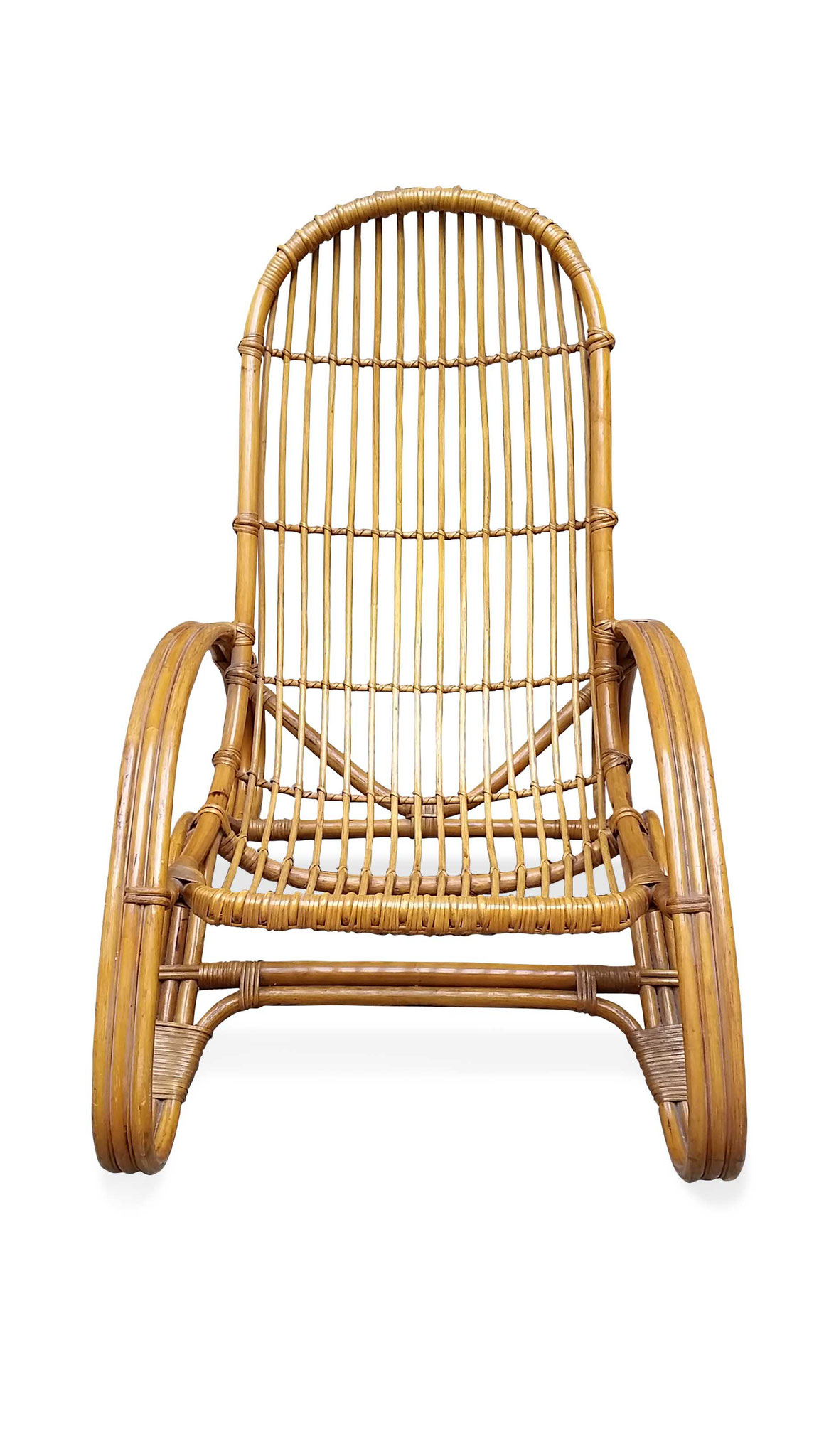 poltrona vintage in rattan