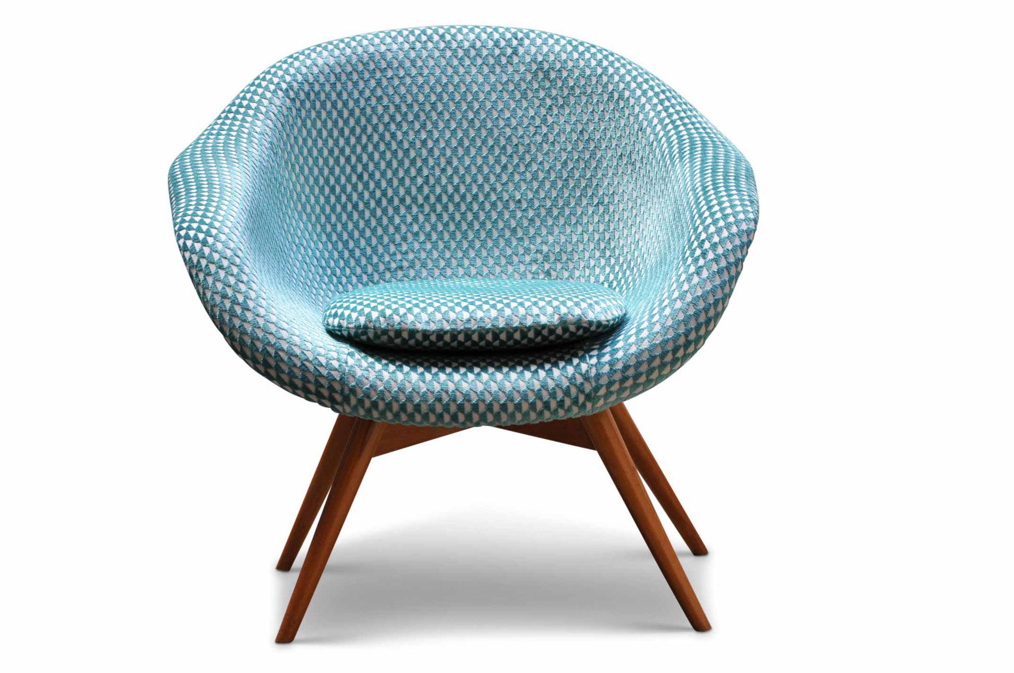 Shell chair vintage restaurata