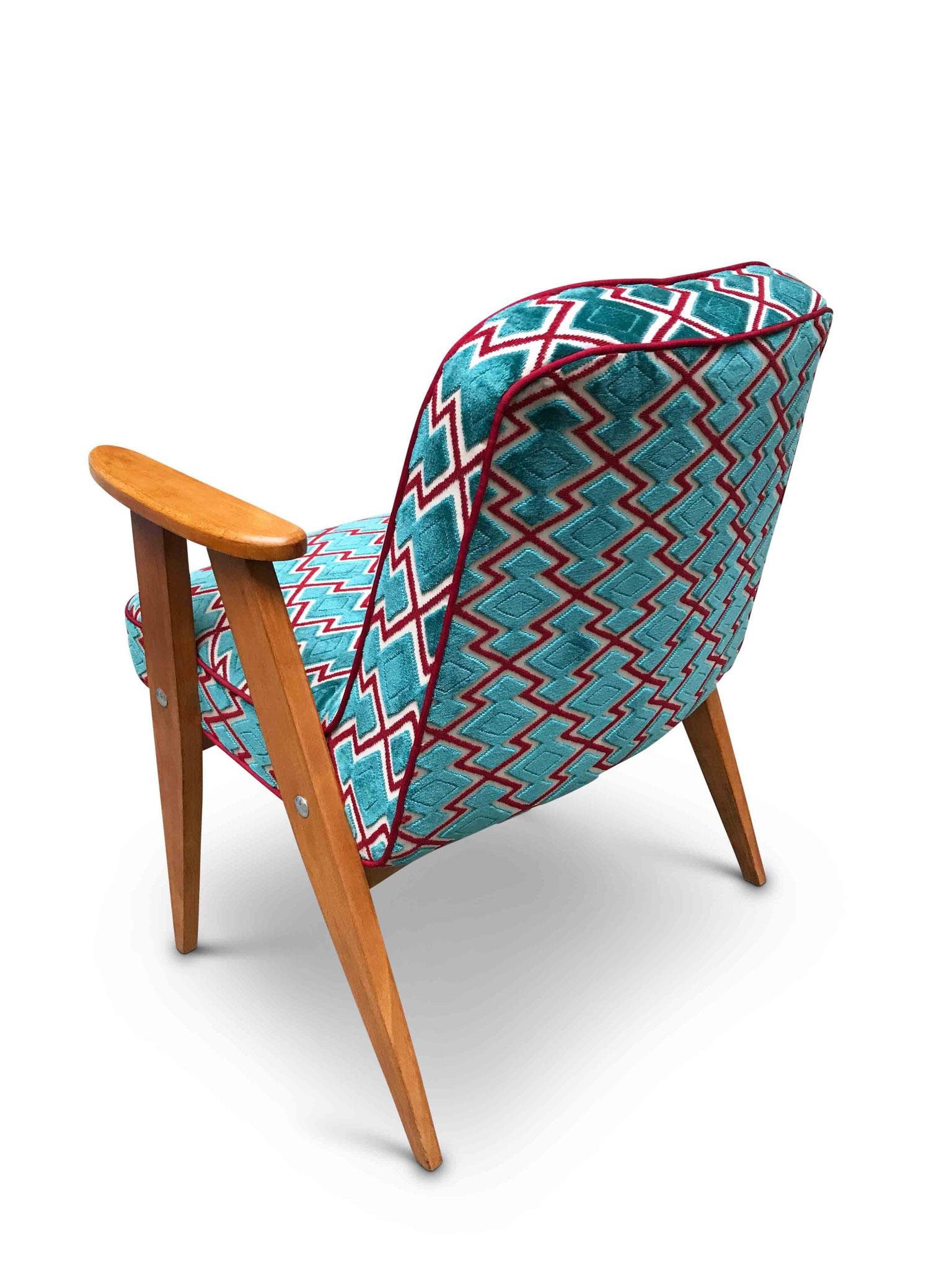 Mid century modern chair wow fabric