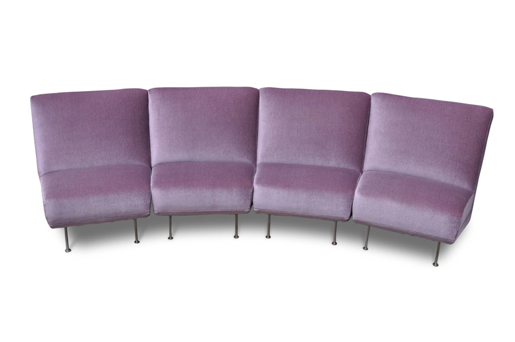 Artifort sectional sofa design Theo Ruth in pink mohair