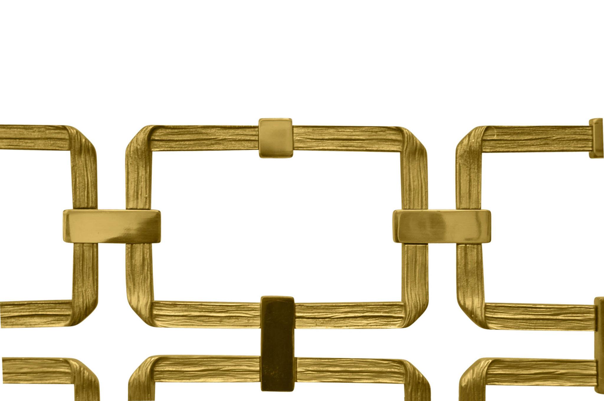 Luciano Frigerio brass headboard