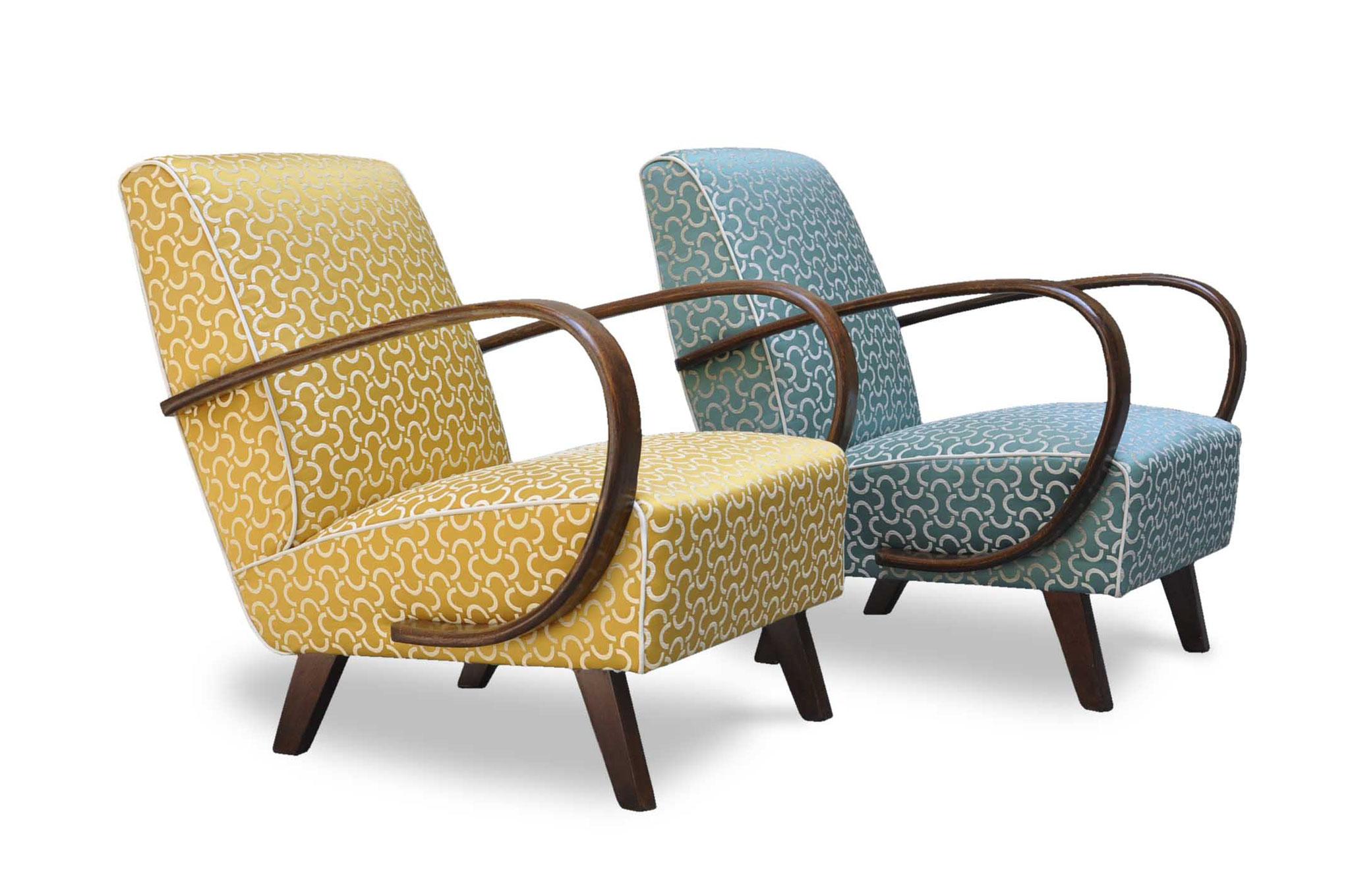 art deco chair in jacquard fabric