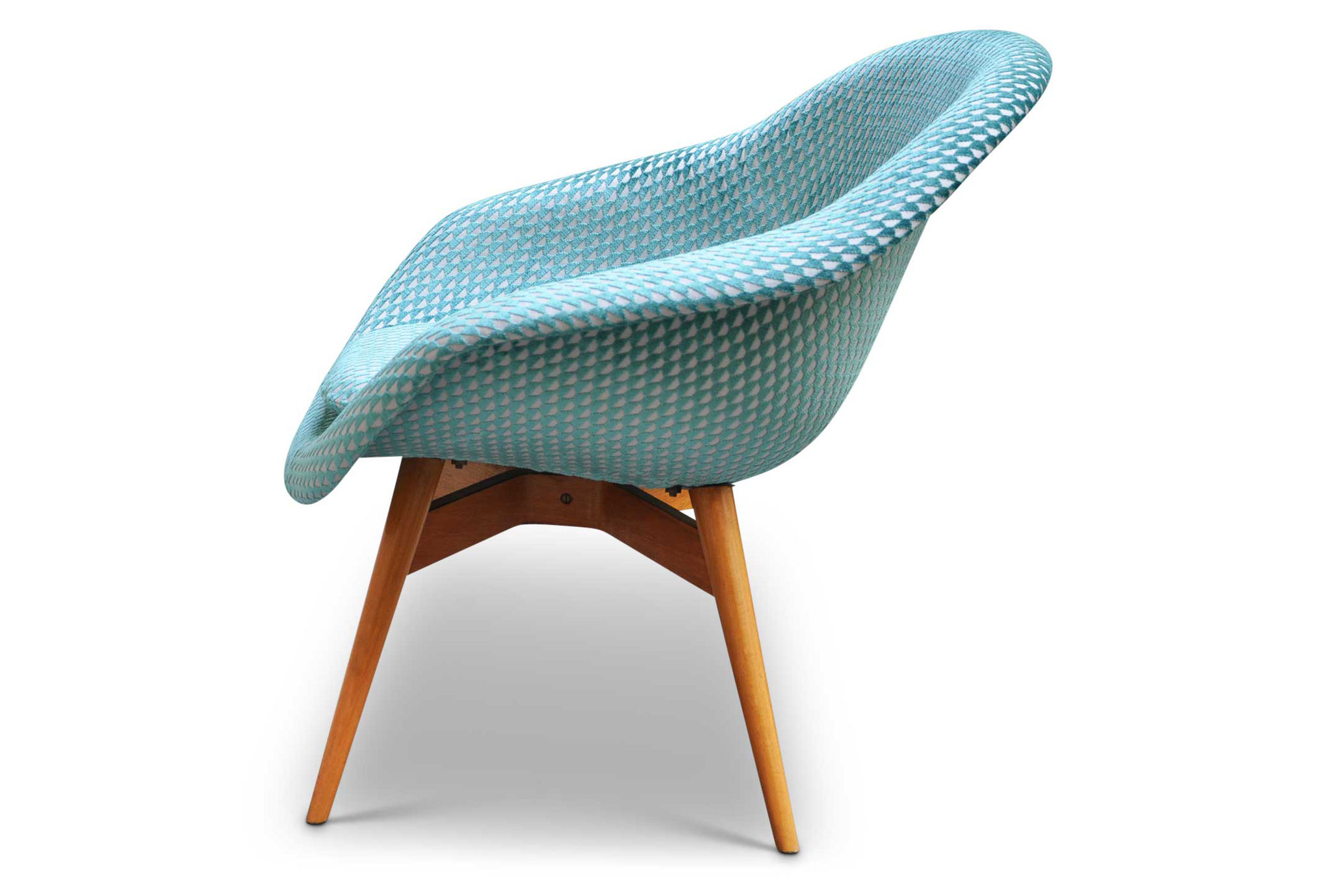 Shell chair vintage restaurata