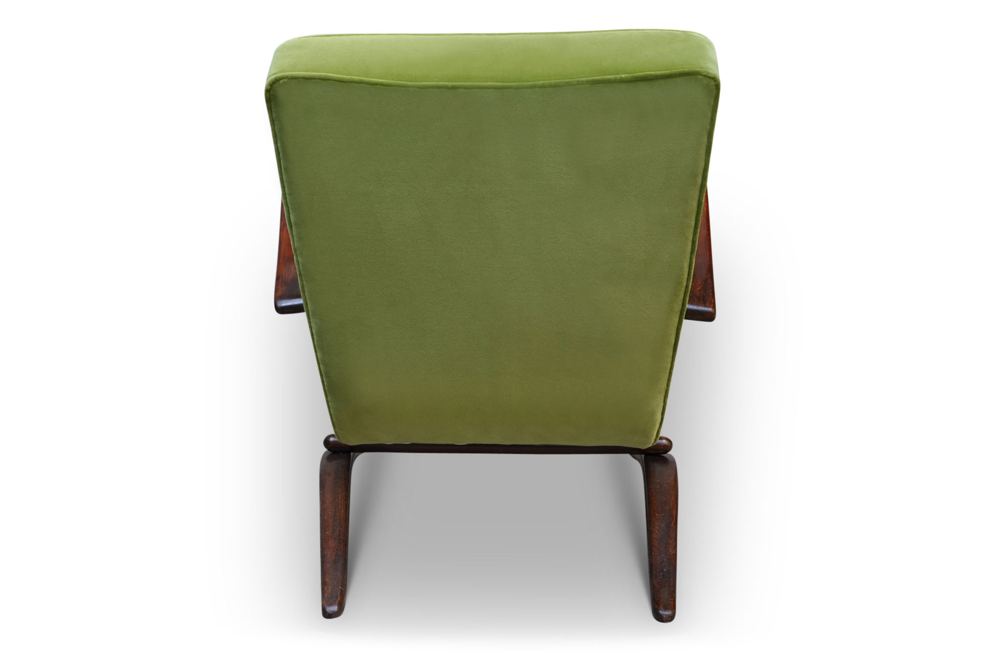 H269 mid century chair lime velvet