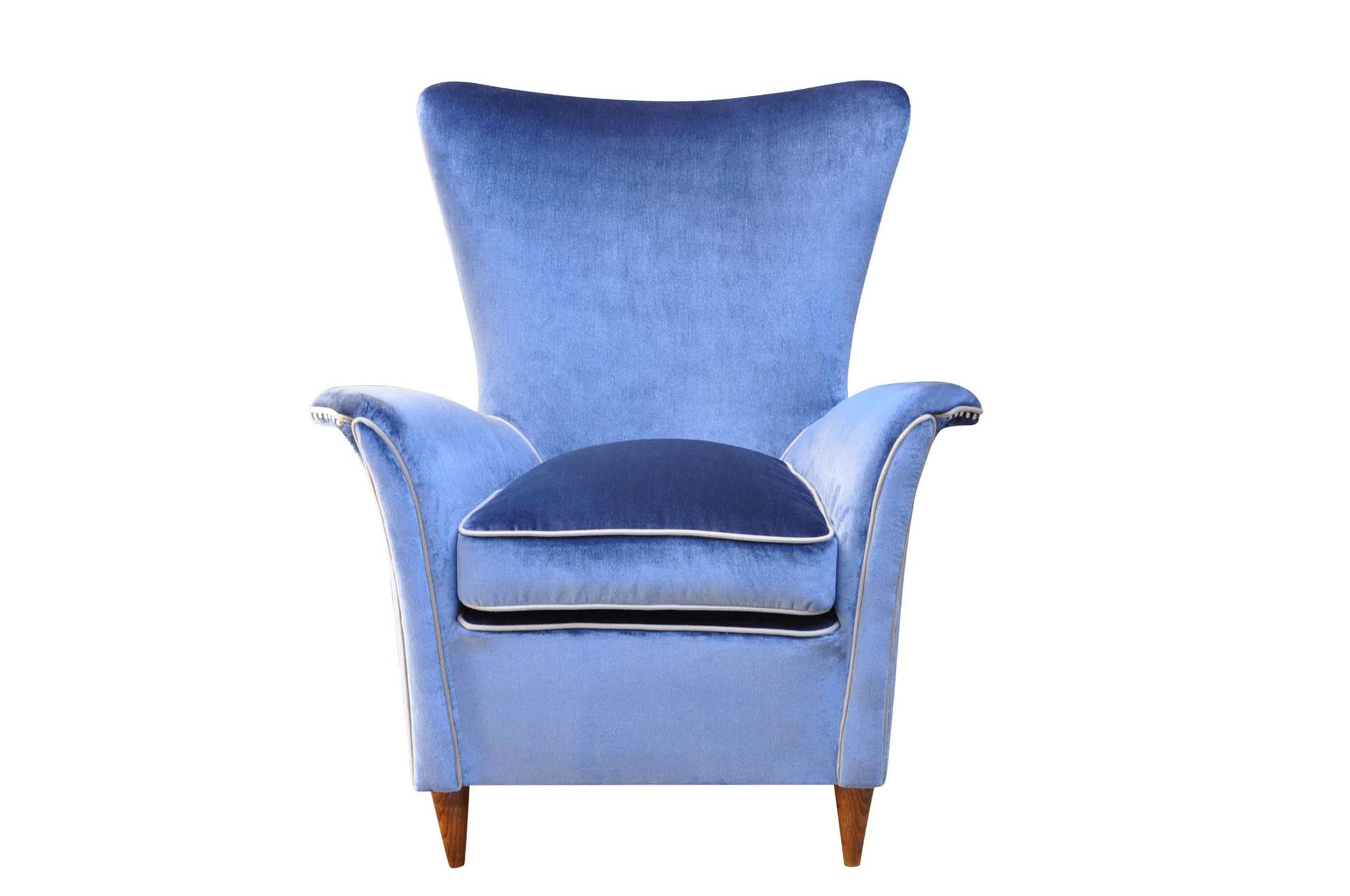 isa gio ponti mid century chair 1940s