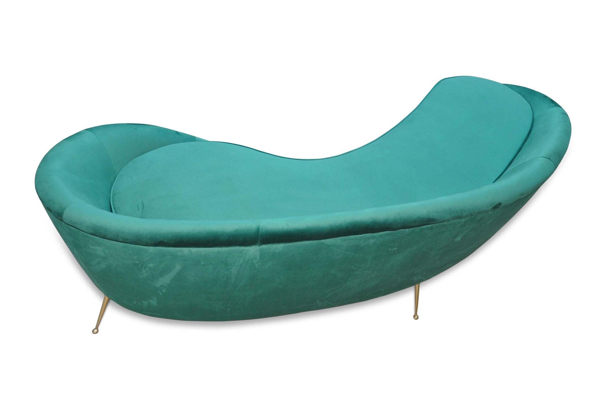 Divano curvo Ico Parisi mid century modern sofa