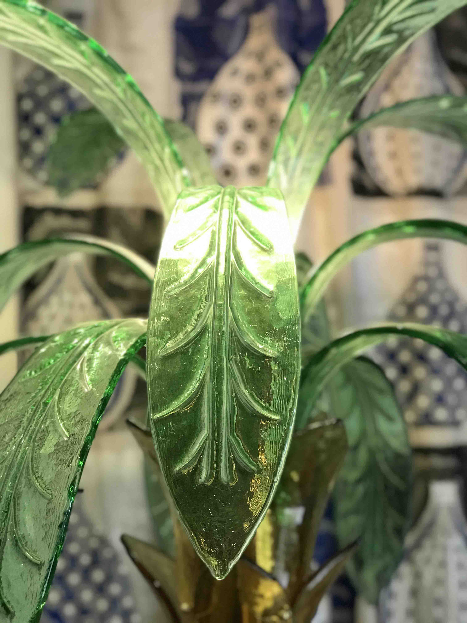 palm tree lamp in murano glass