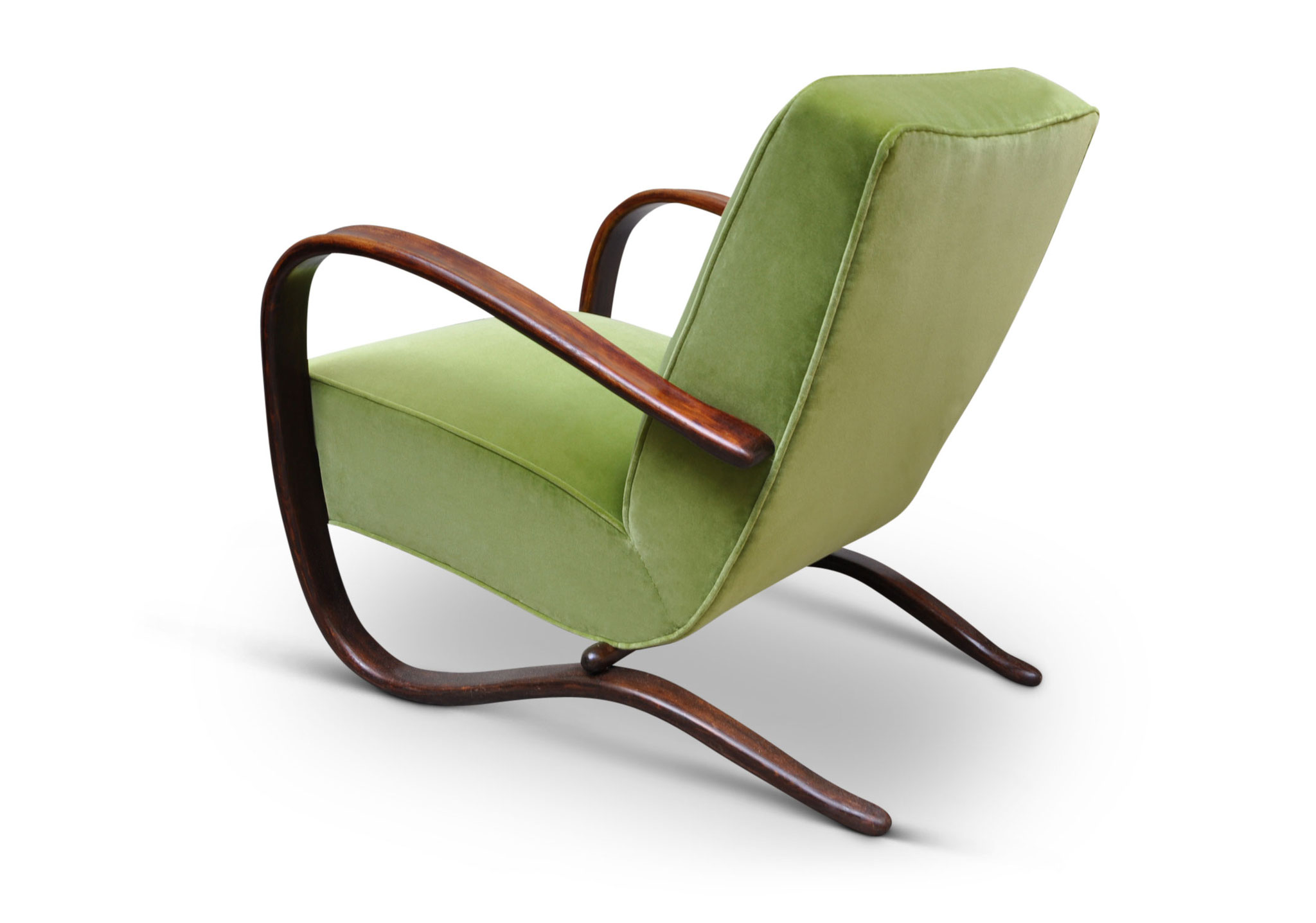 H269 art deco chair lime velvet