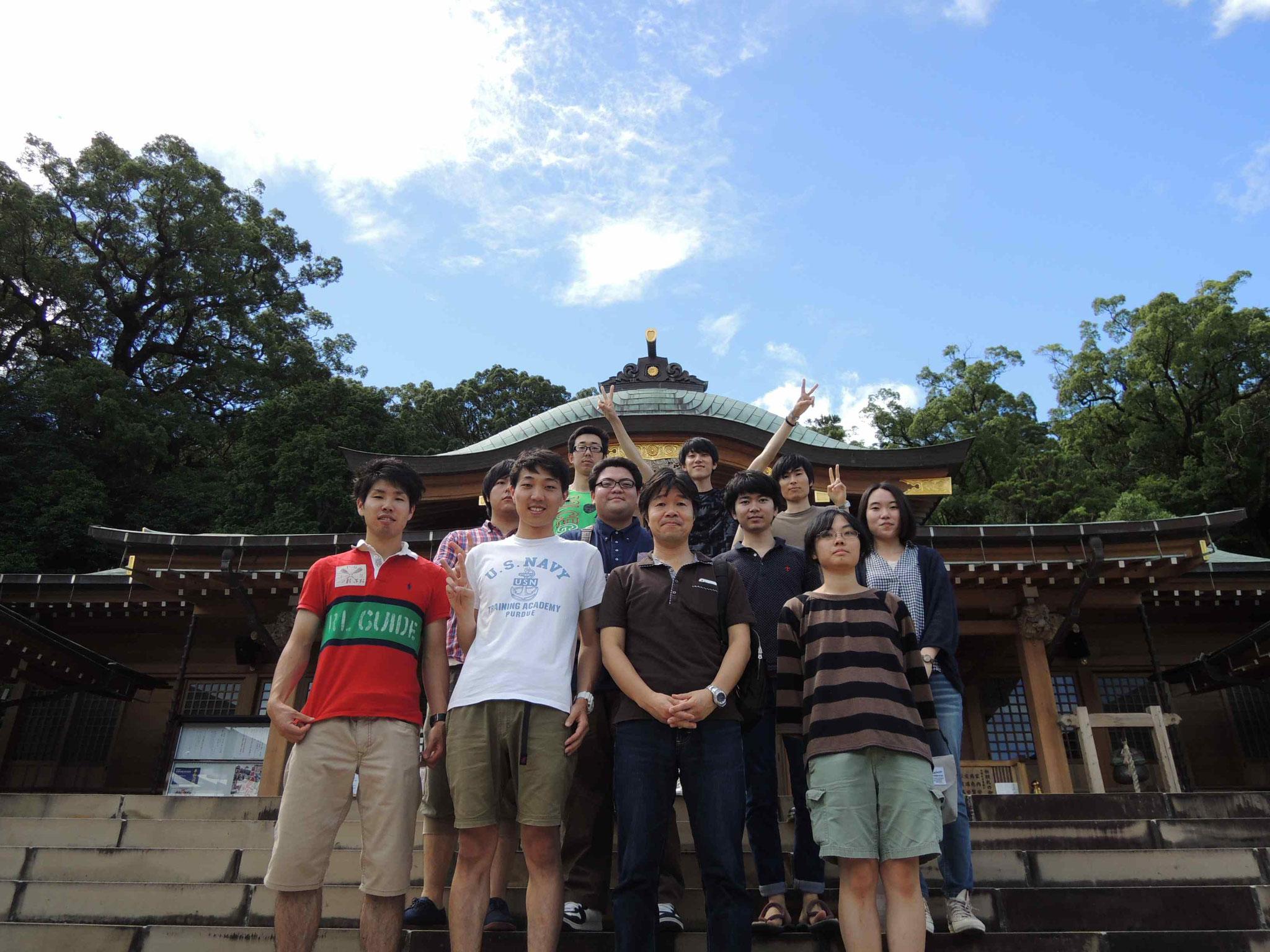 研究室旅行 諏訪神社(2016.7.9)