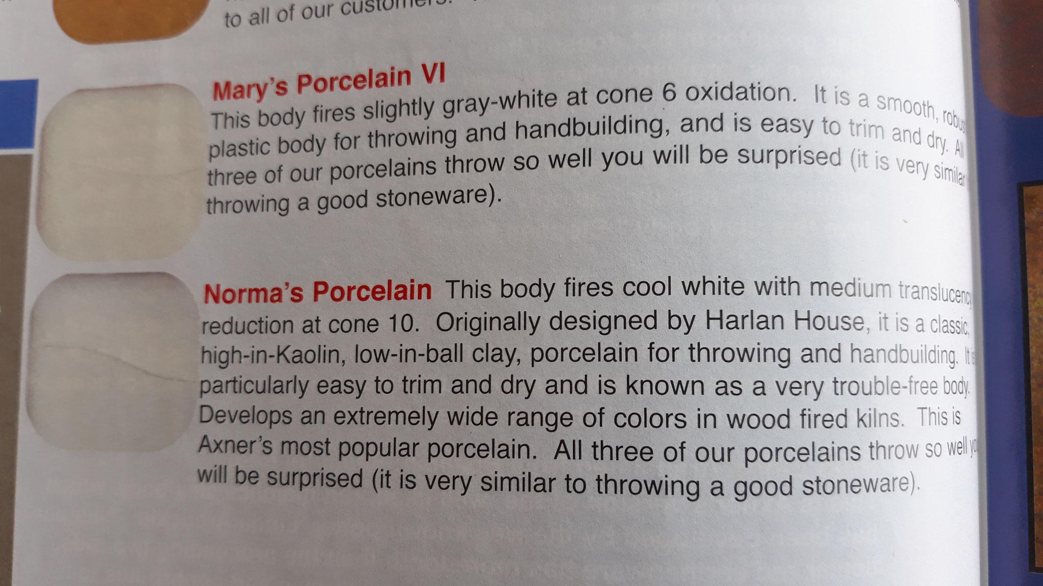 Catalogue Axner Pottery supply