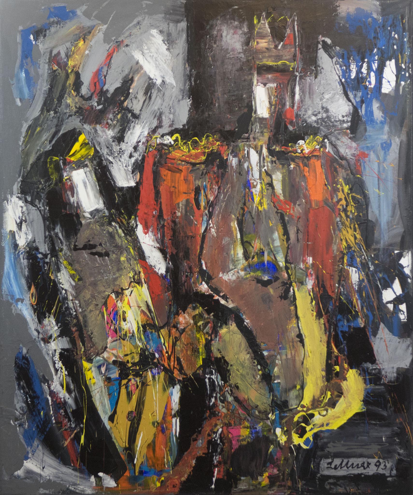 """""""Regierender König"""" 1993 - Acryl auf Leinen - 100x120 cm"""